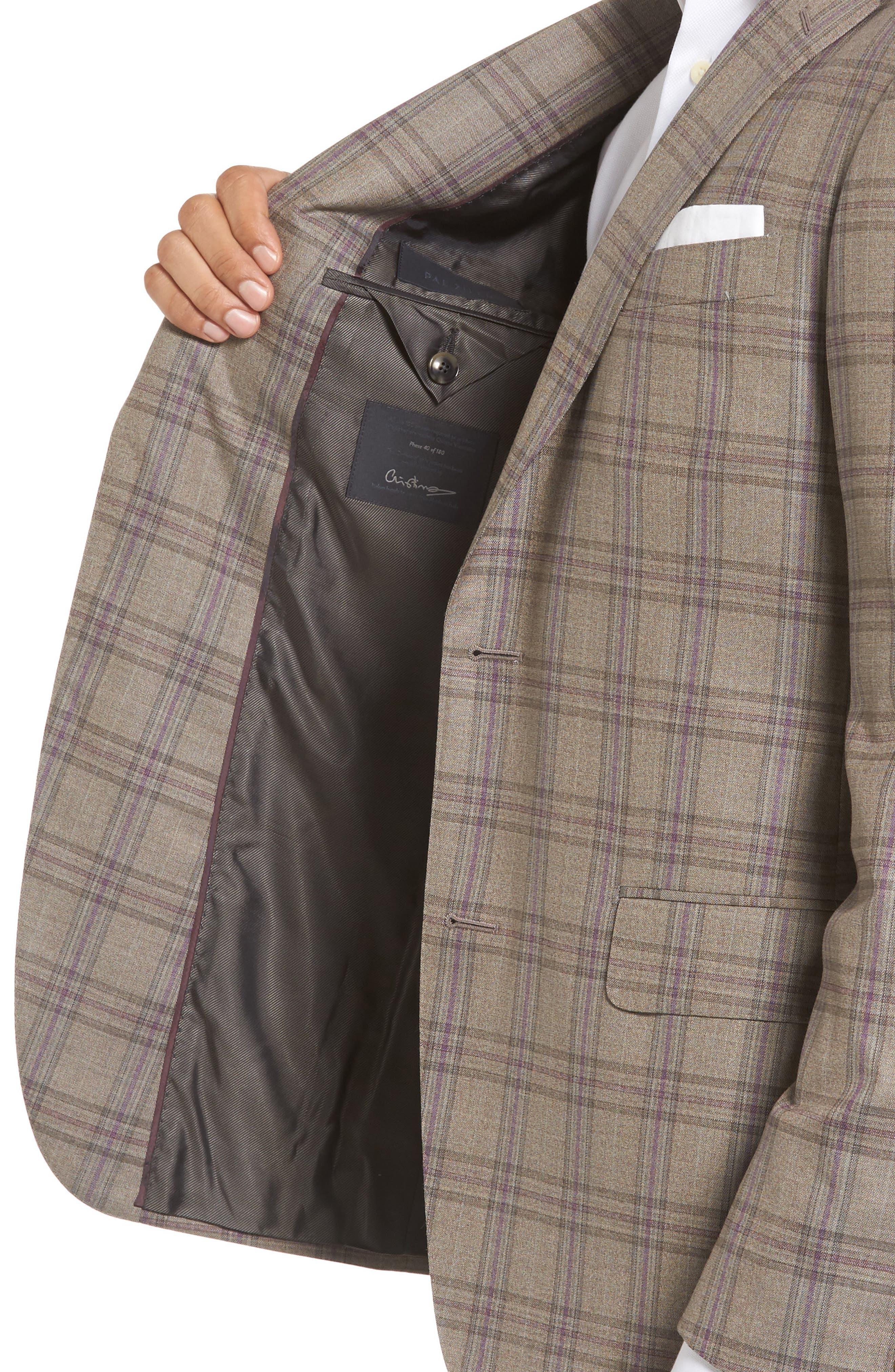 Classic Fit Plaid Wool Sport Coat,                             Alternate thumbnail 4, color,                             249