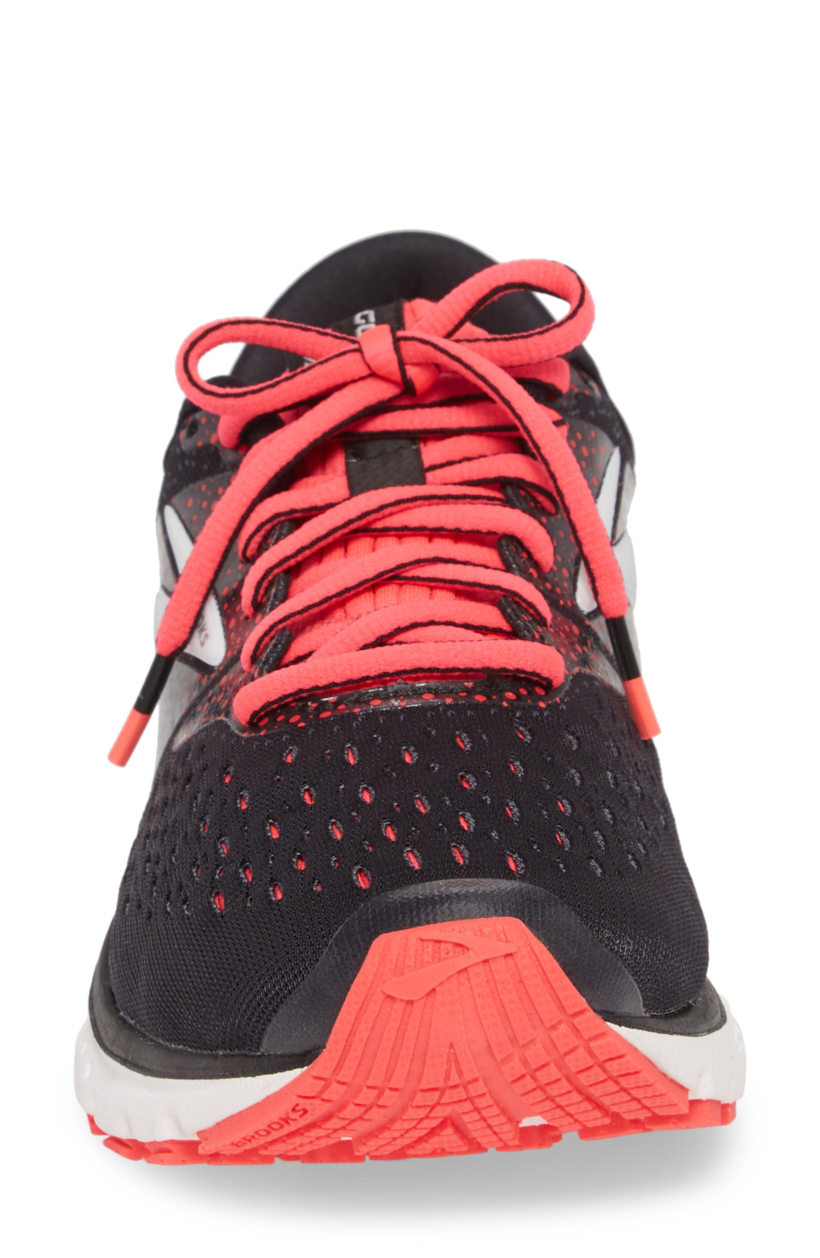 Glycerin 16 Running Shoe,                             Alternate thumbnail 4, color,                             BLACK/ PINK/ GREY