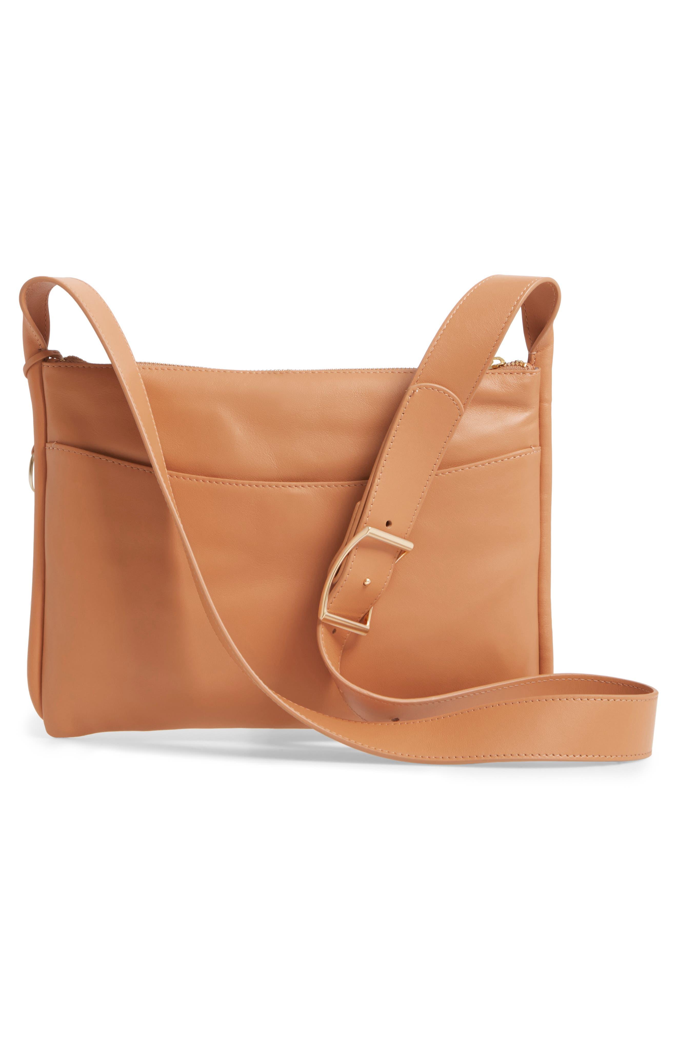 Slim Anesa Leather Crossbody Bag,                             Alternate thumbnail 6, color,