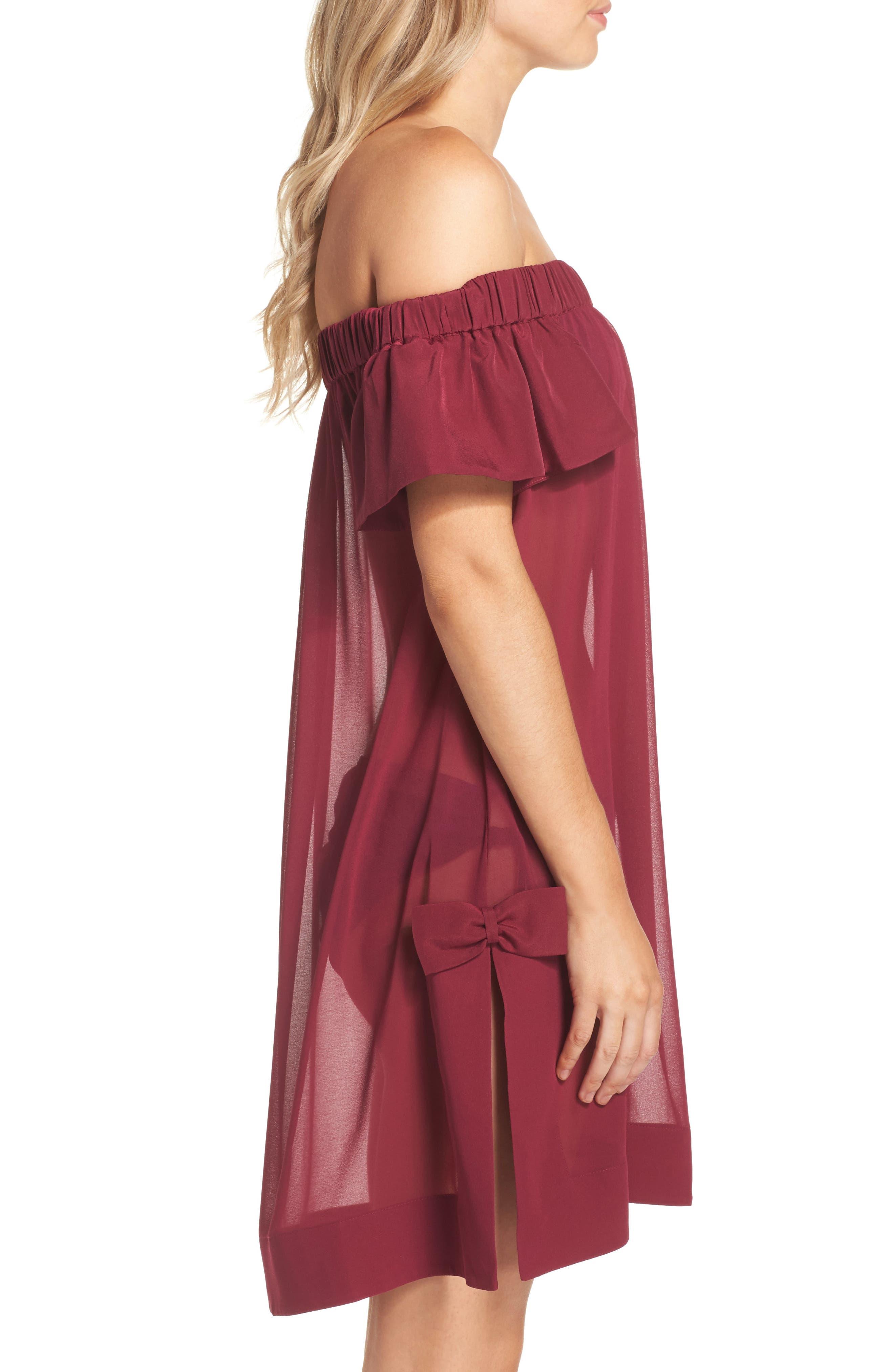 Anete Bardot Cover-Up Dress,                             Alternate thumbnail 3, color,                             501