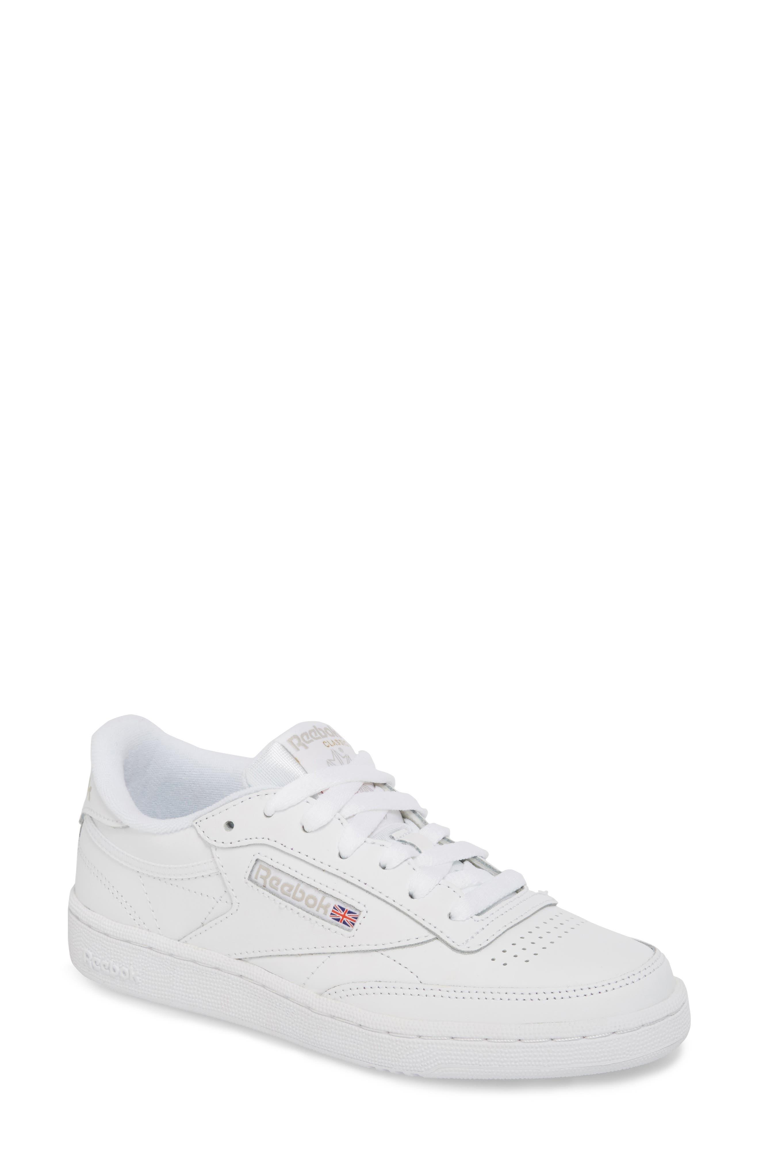 Club C 85 Sneaker,                         Main,                         color, WHITE/ LIGHT GREY