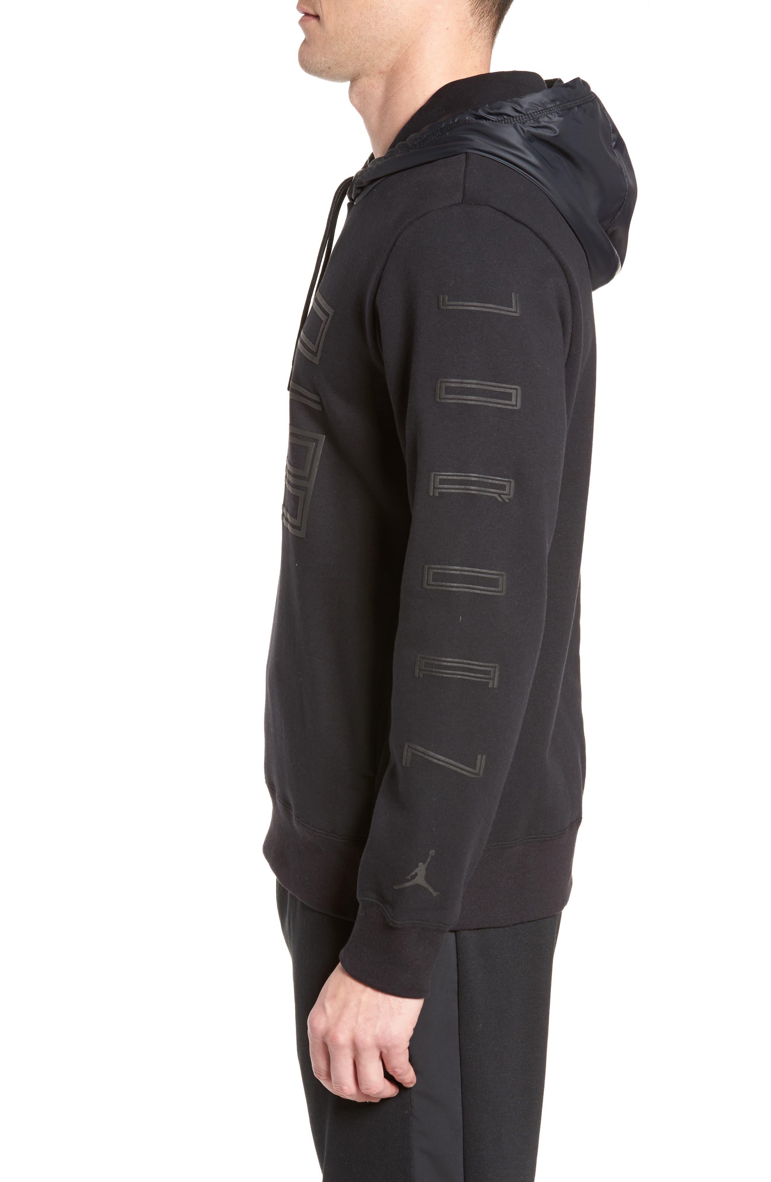 Sportswear AJ11 Hybrid Hoodie,                             Alternate thumbnail 3, color,                             010