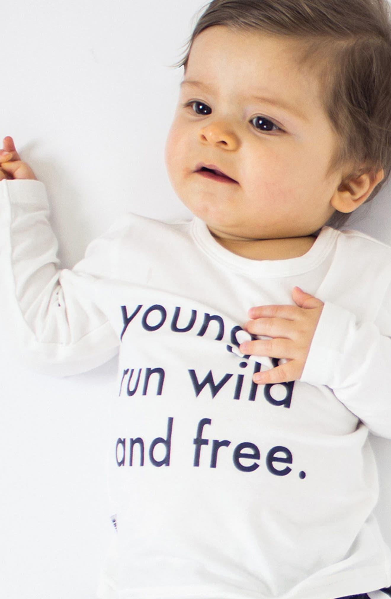 Run Wild & Free T-Shirt & Jogger Pants Set,                             Alternate thumbnail 2, color,