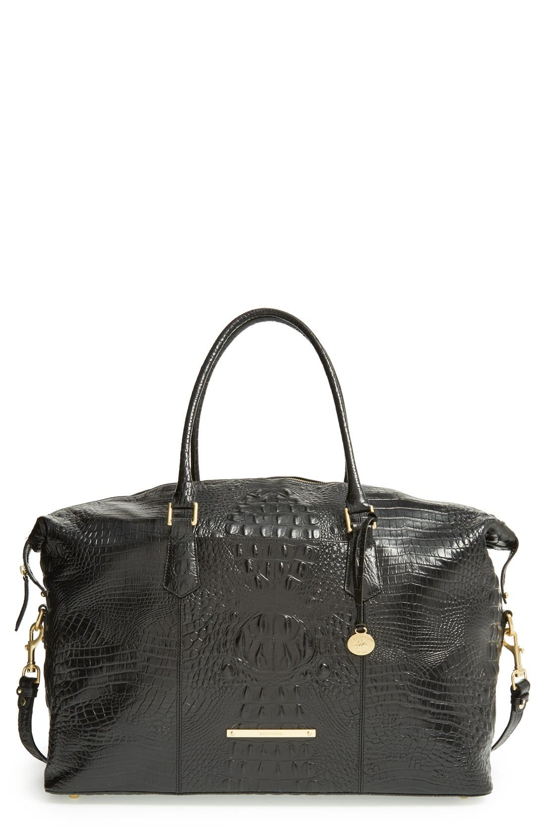 'Duxbury' Leather Travel Bag,                             Main thumbnail 3, color,