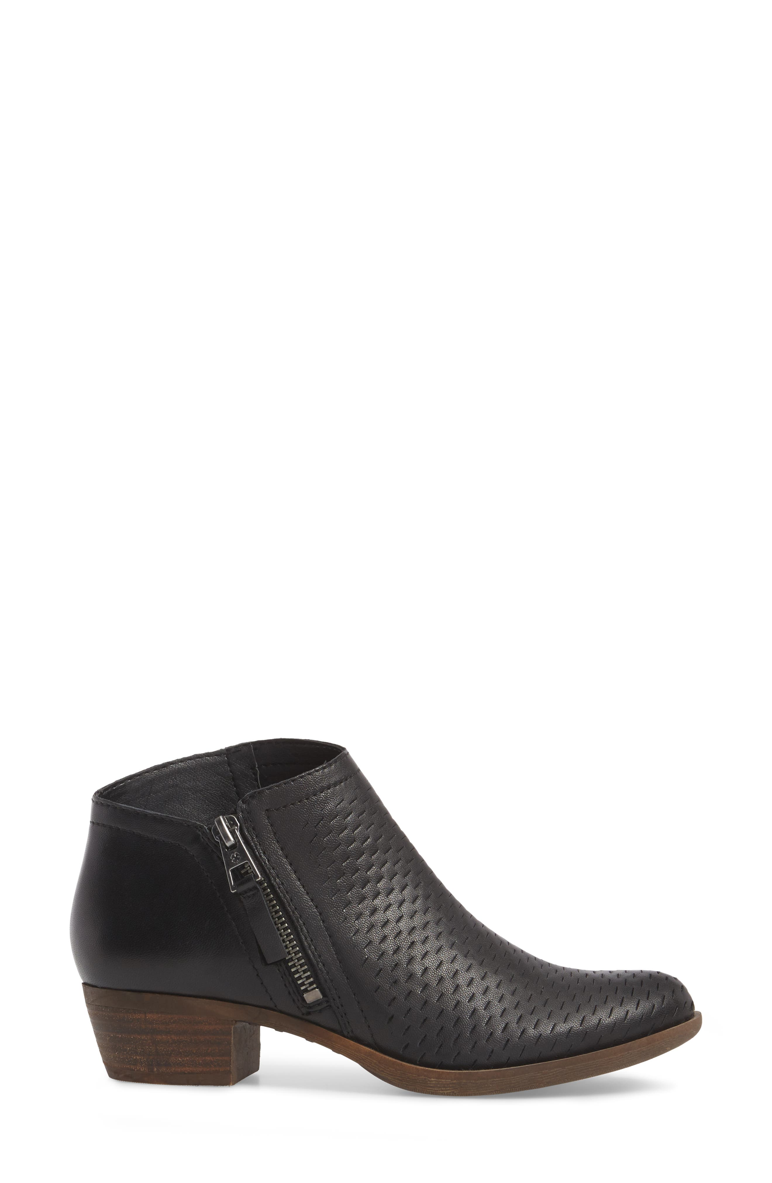 Brielley Perforated Bootie,                             Alternate thumbnail 3, color,                             002