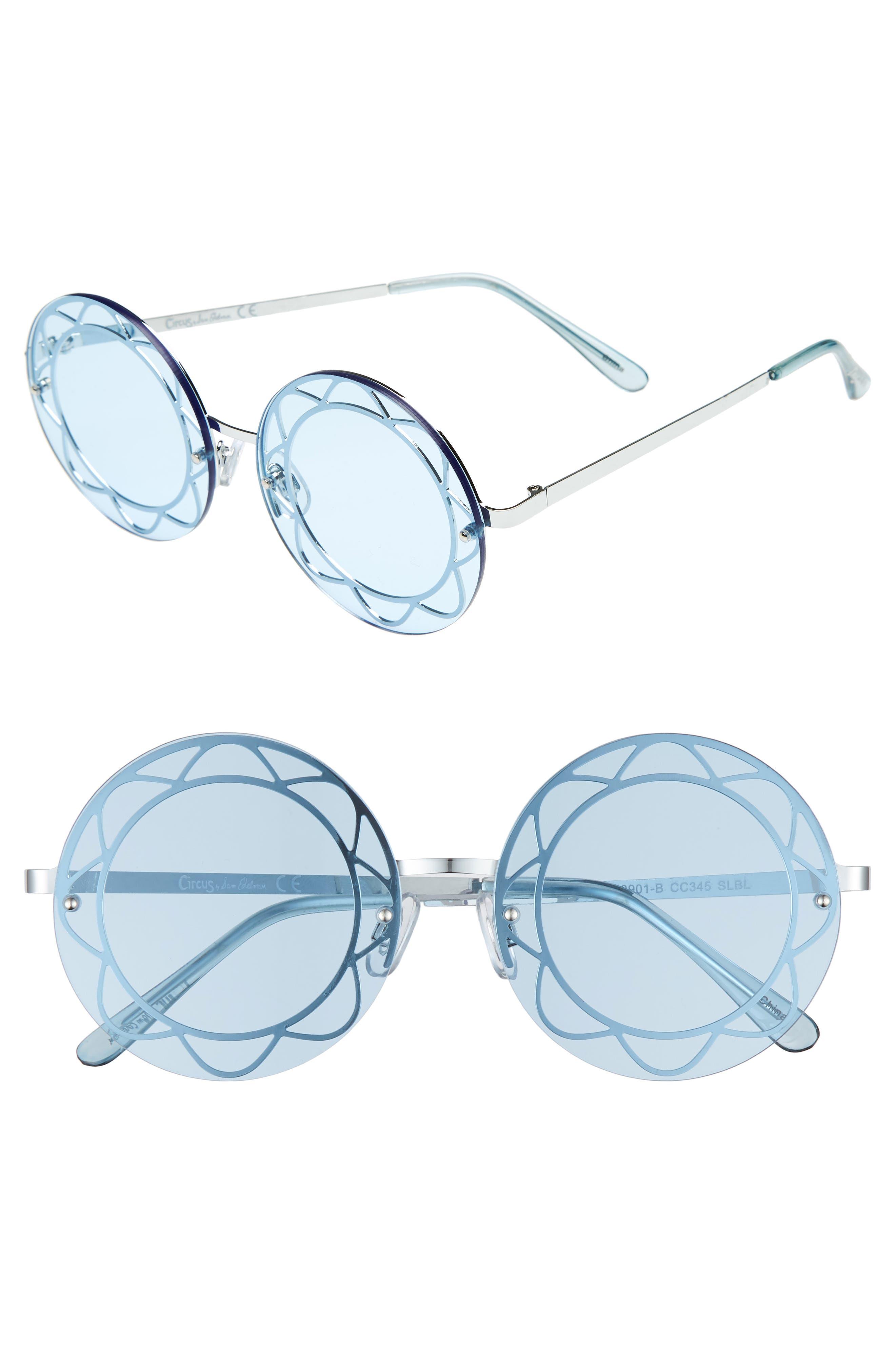 55mm Round Sunglasses,                             Main thumbnail 1, color,                             047
