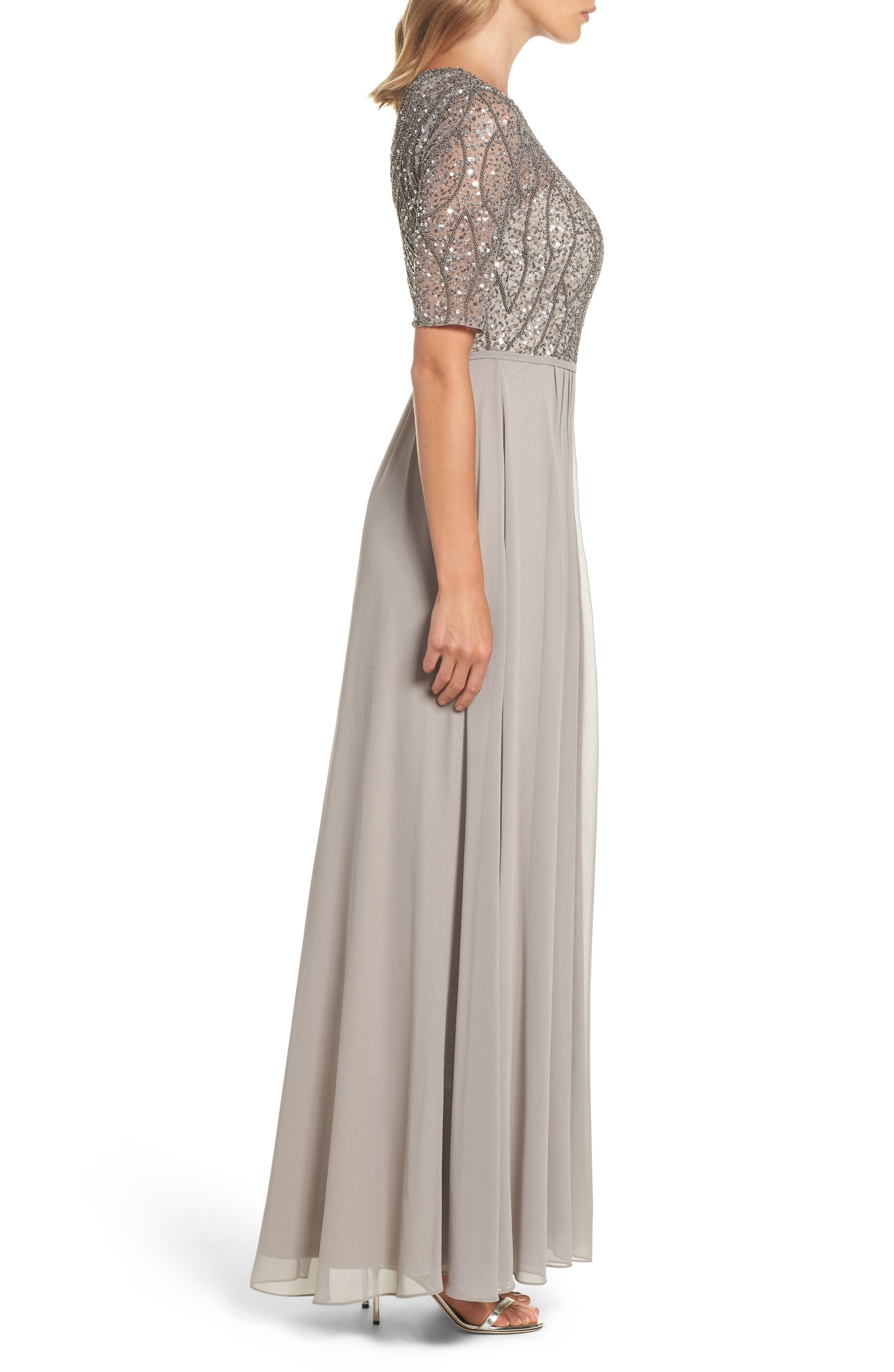 Embellished Bodice Gown,                             Alternate thumbnail 3, color,                             046