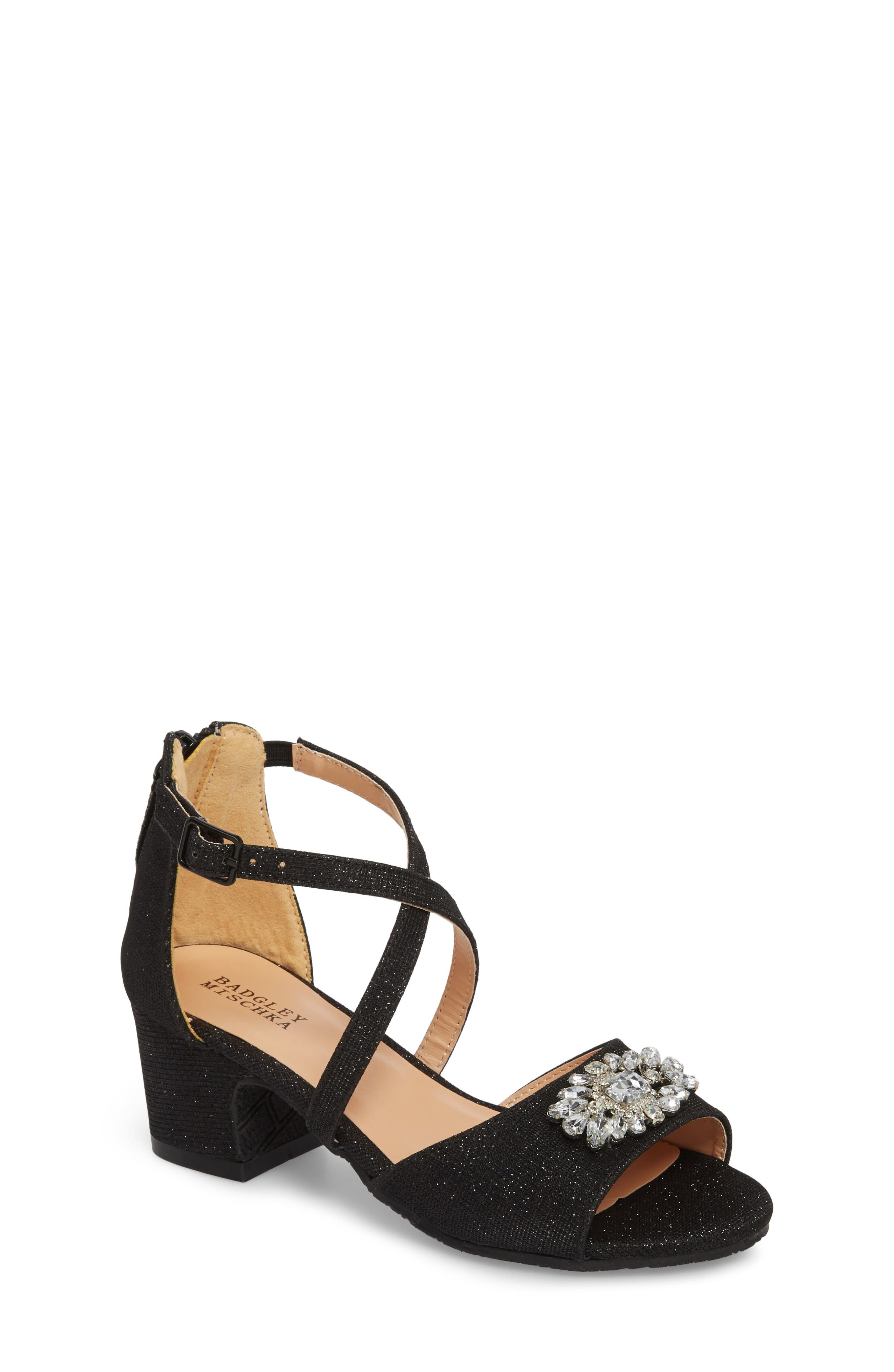 Pernia Gems Sandal,                         Main,                         color, BLACK