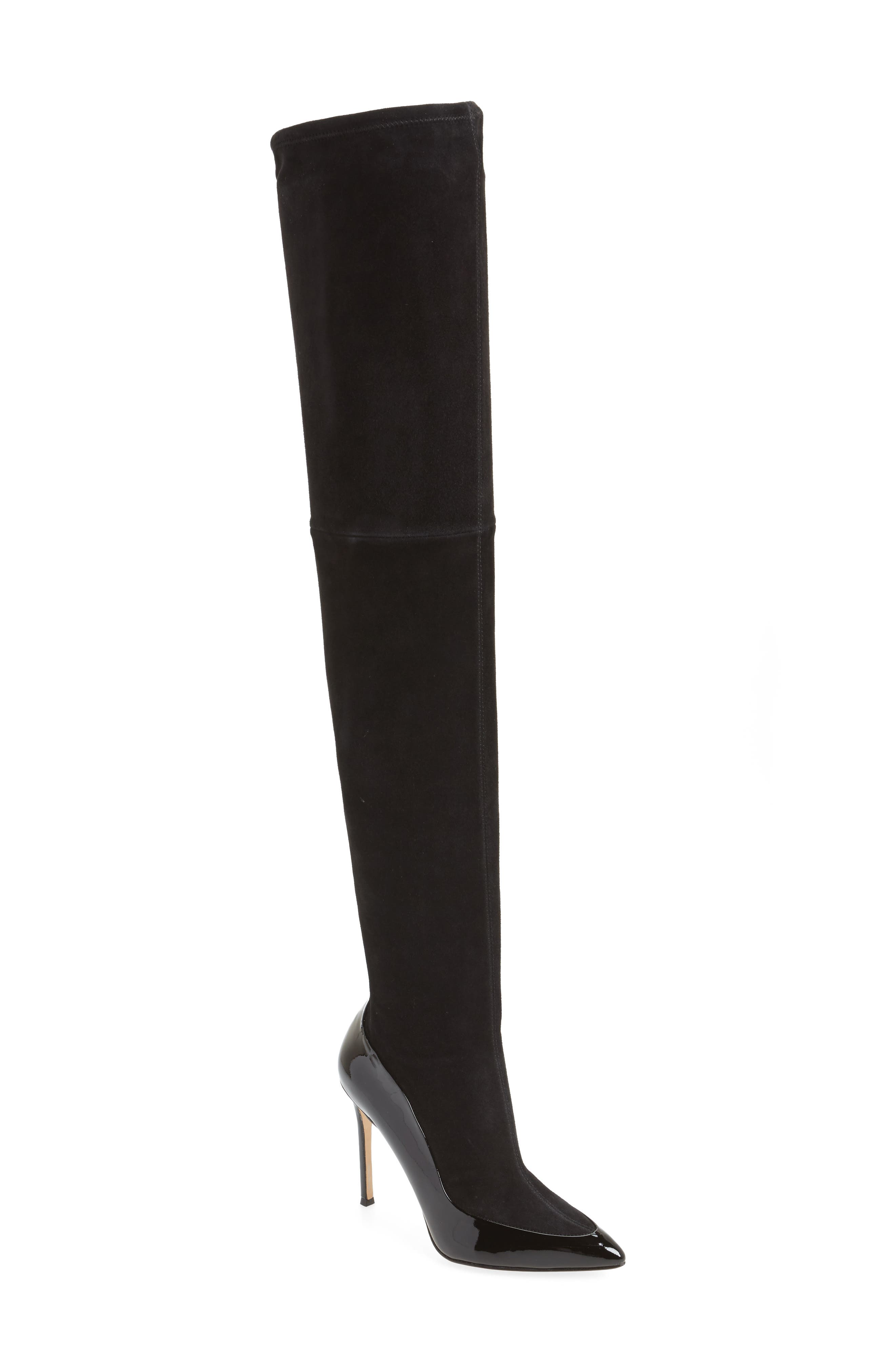 Cassie Thigh High Boot,                         Main,                         color, 001