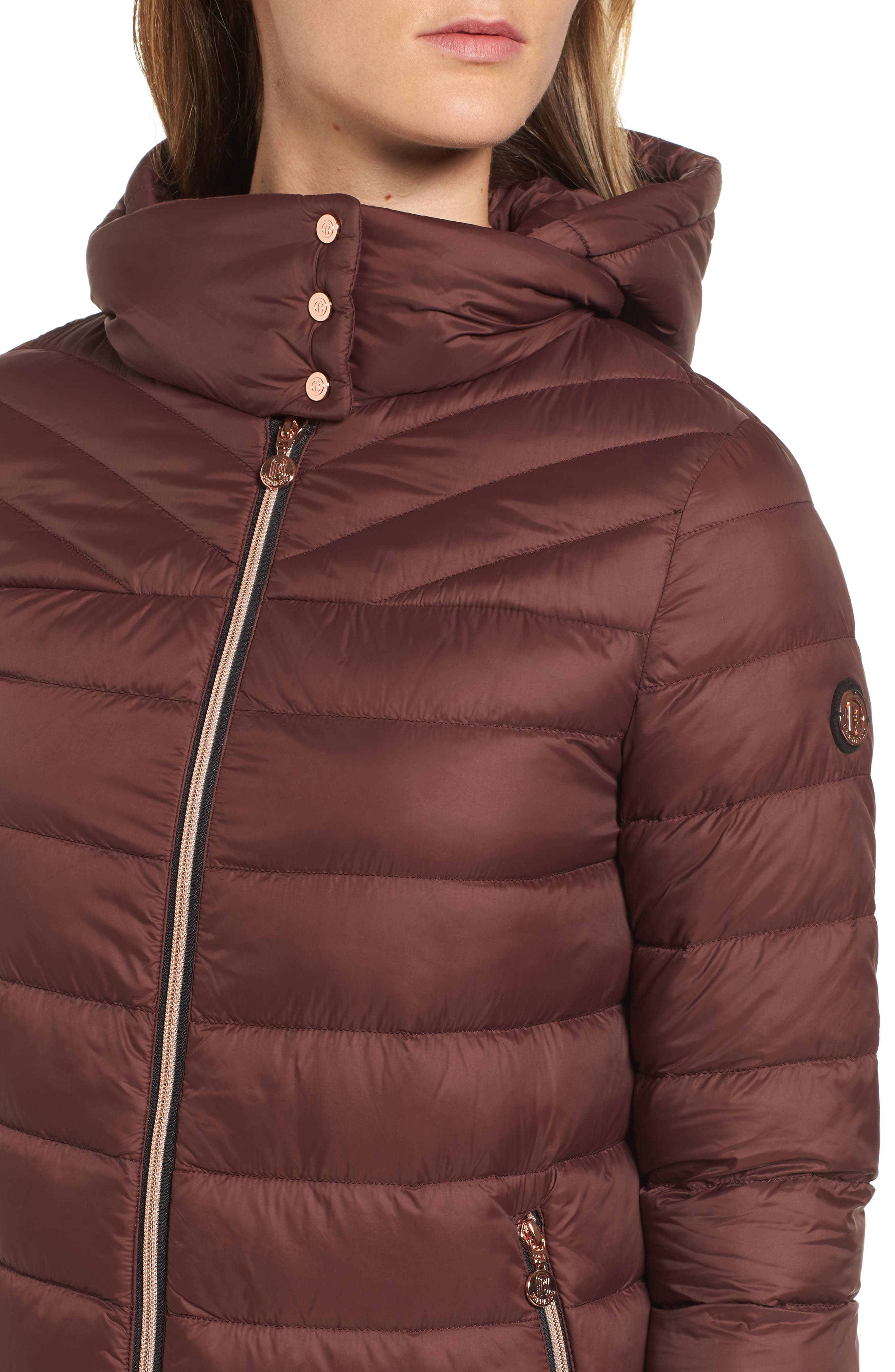 Hooded Packable Down & PrimaLoft<sup>®</sup> Coat,                             Alternate thumbnail 8, color,