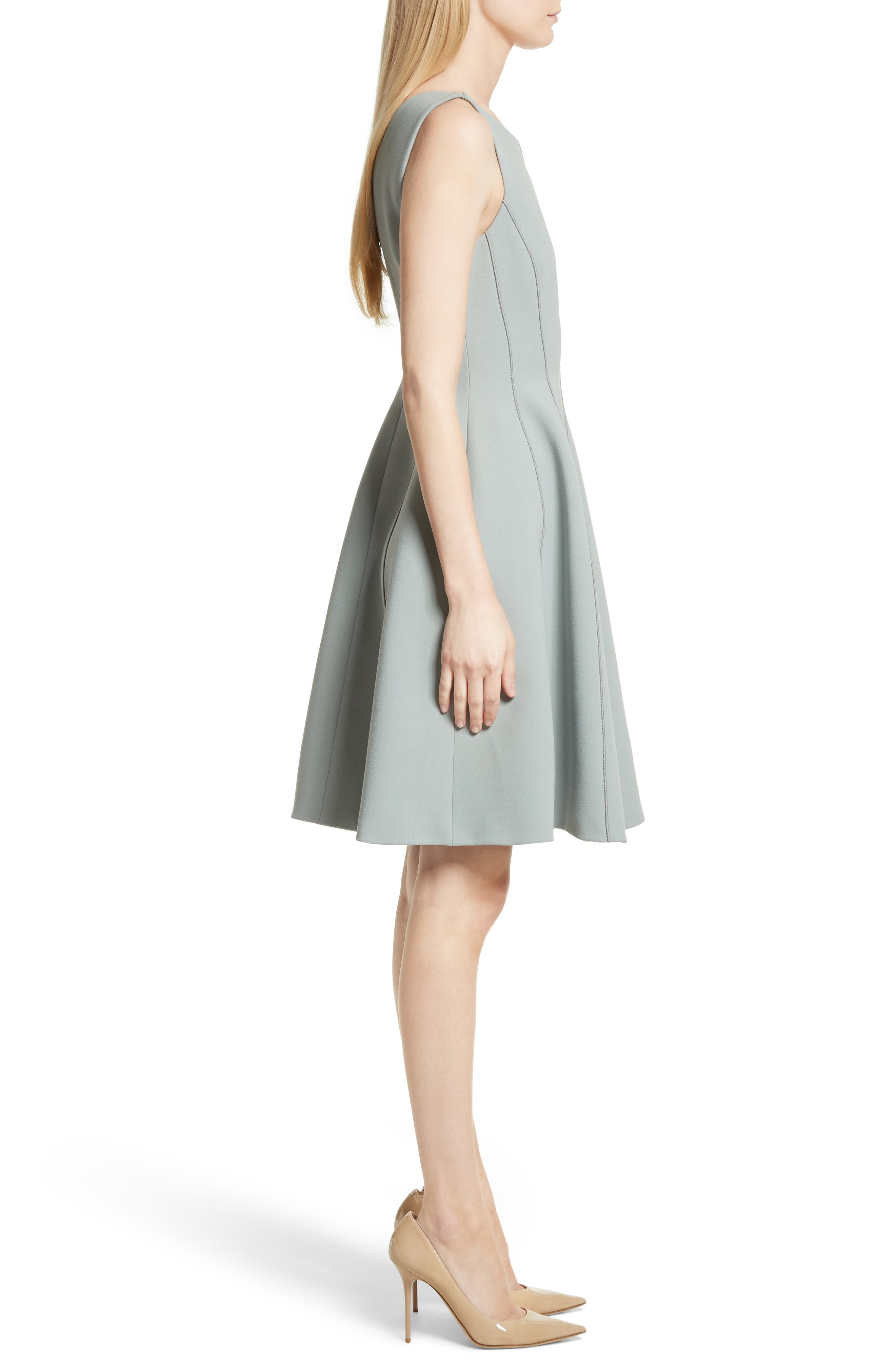 Camogie Fit & Flare Dress,                             Alternate thumbnail 3, color,