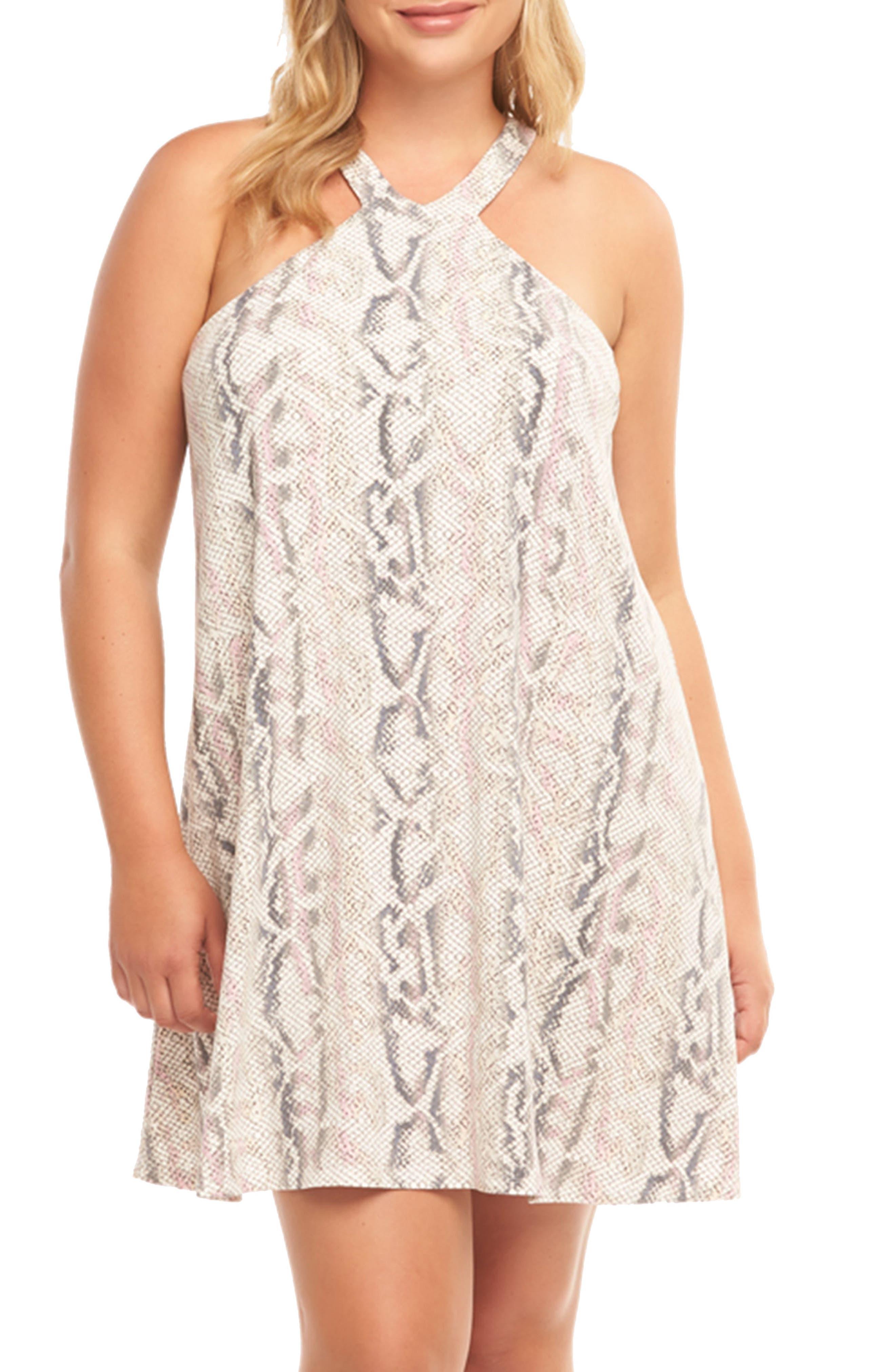 Plus Size Tart Rise Minidress, Pink