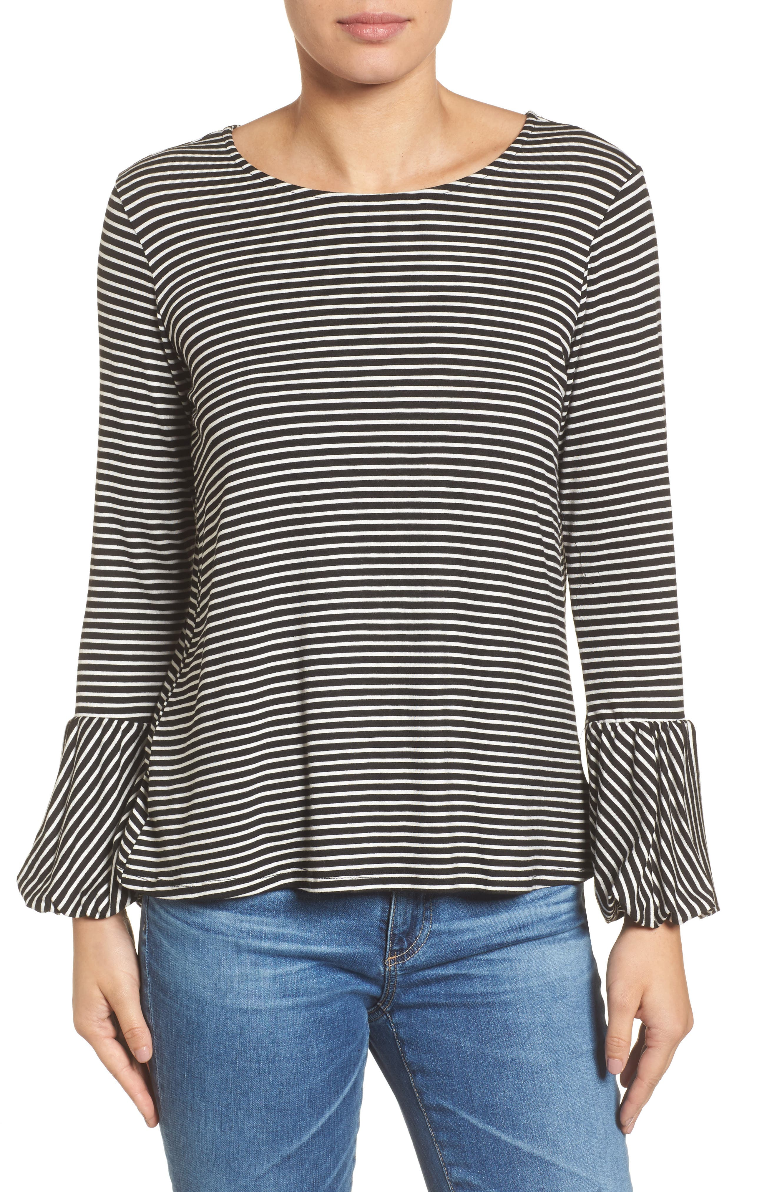 Bell Sleeve Top,                             Main thumbnail 1, color,                             003