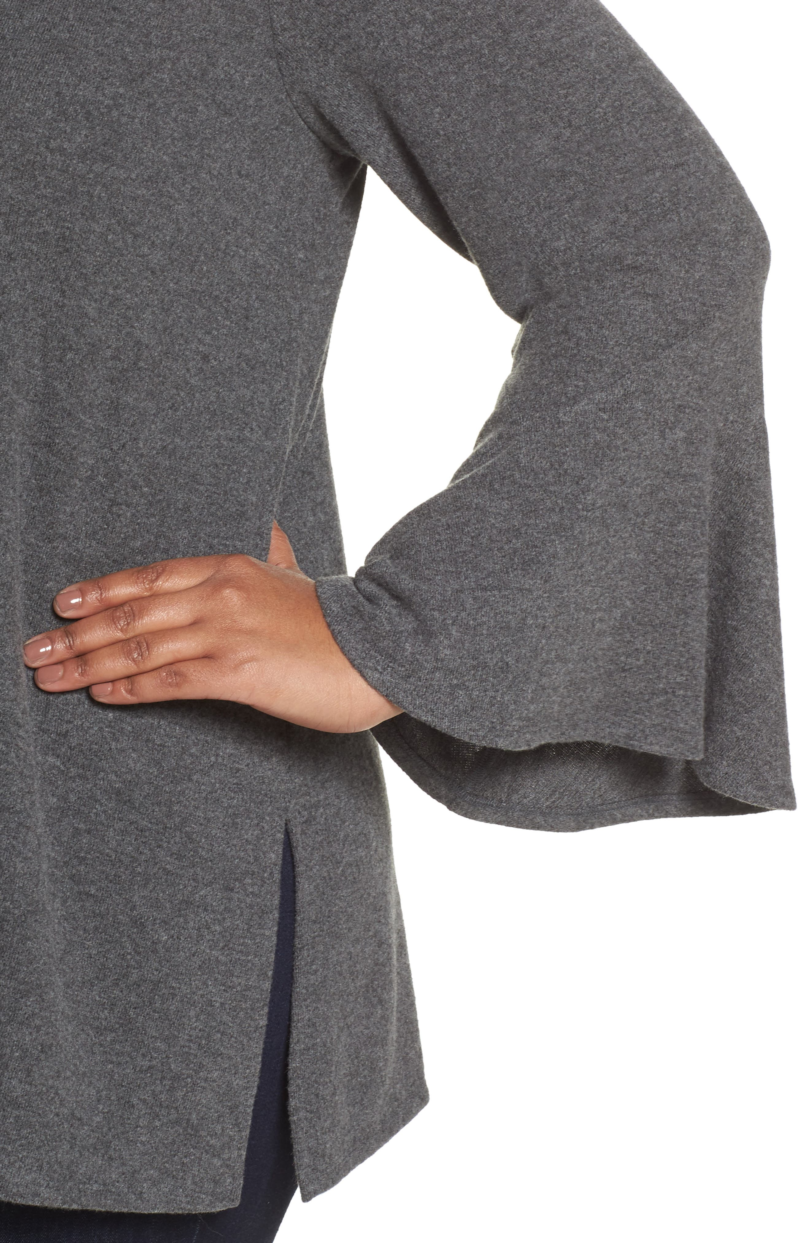 Bell Sleeve Mixed Media Top,                             Alternate thumbnail 11, color,