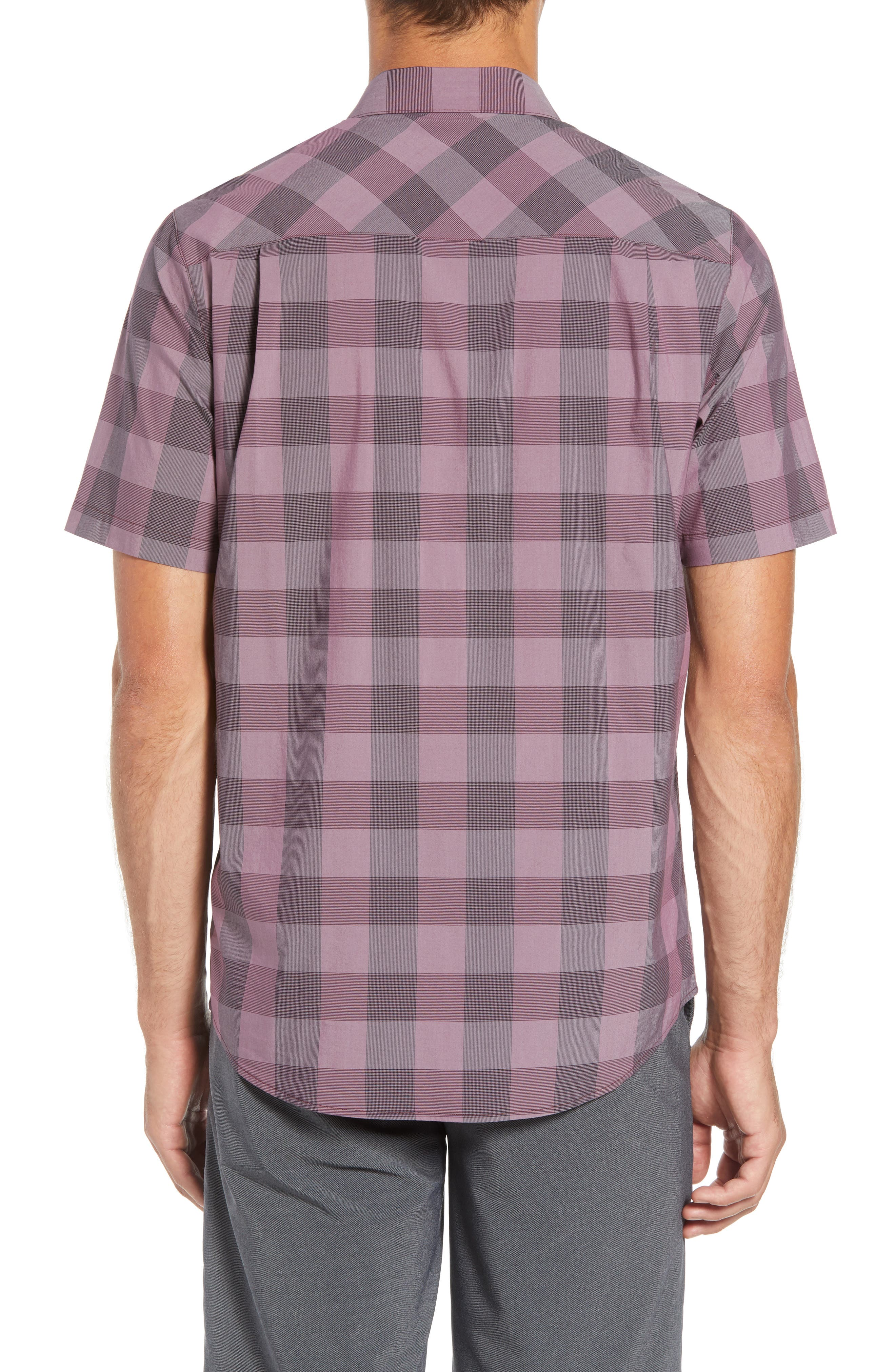Buffalo Regular Fit Sport Shirt,                             Alternate thumbnail 3, color,                             HEATHER EGGPLANT