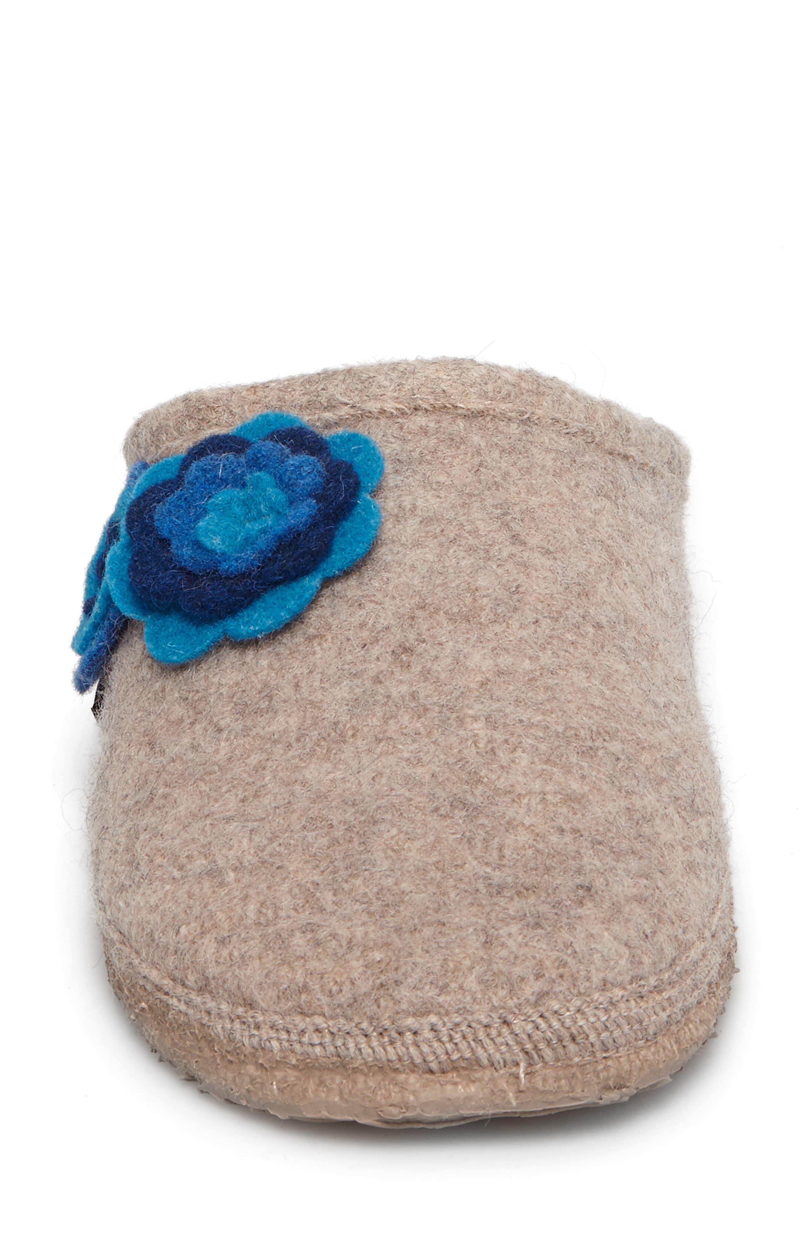Georgie Indoor Boiled Wool Slipper,                             Alternate thumbnail 4, color,                             NATURAL WOOL