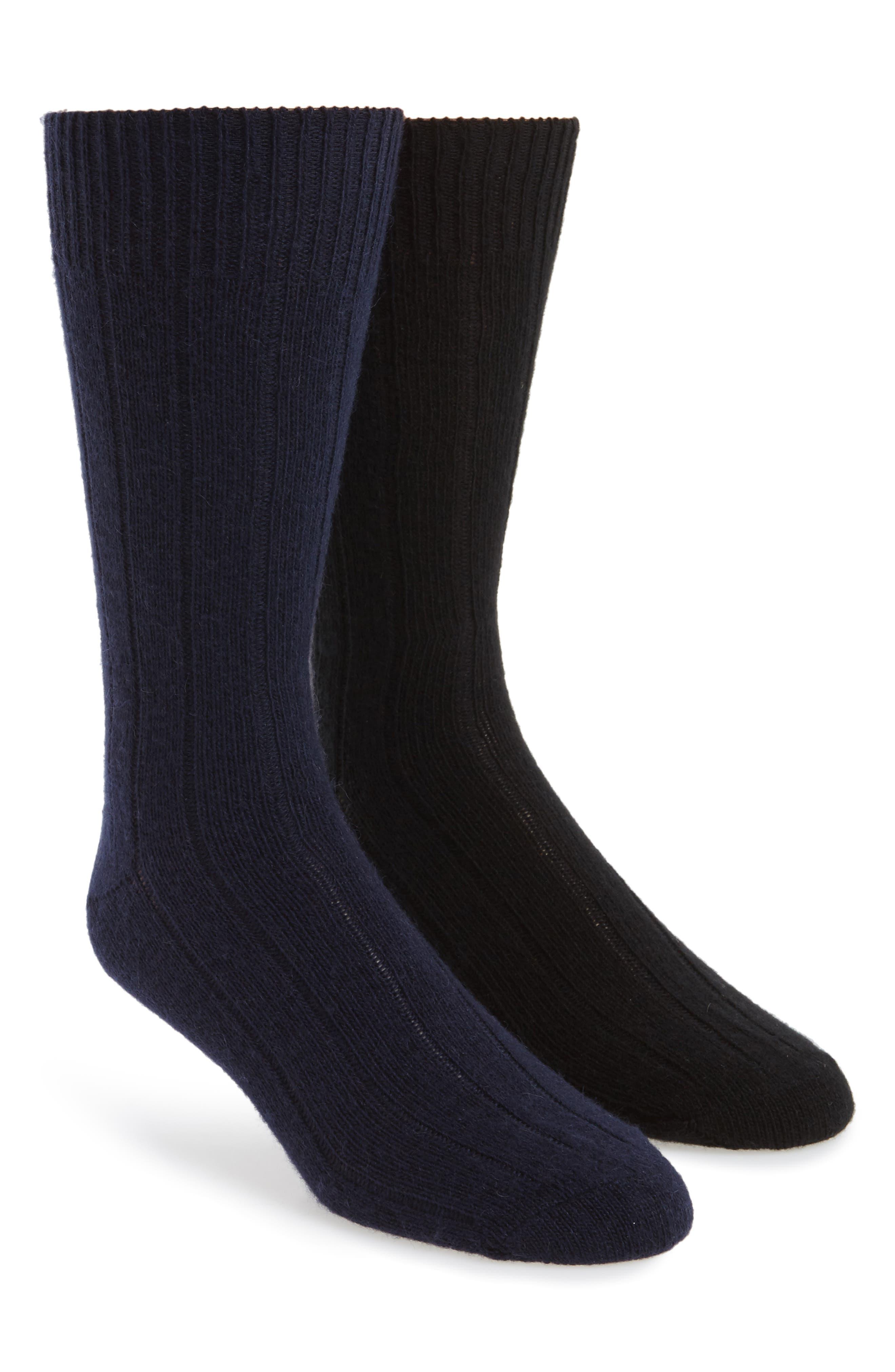2-Pack Cashmere Blend Socks Box Set,                             Main thumbnail 1, color,                             001