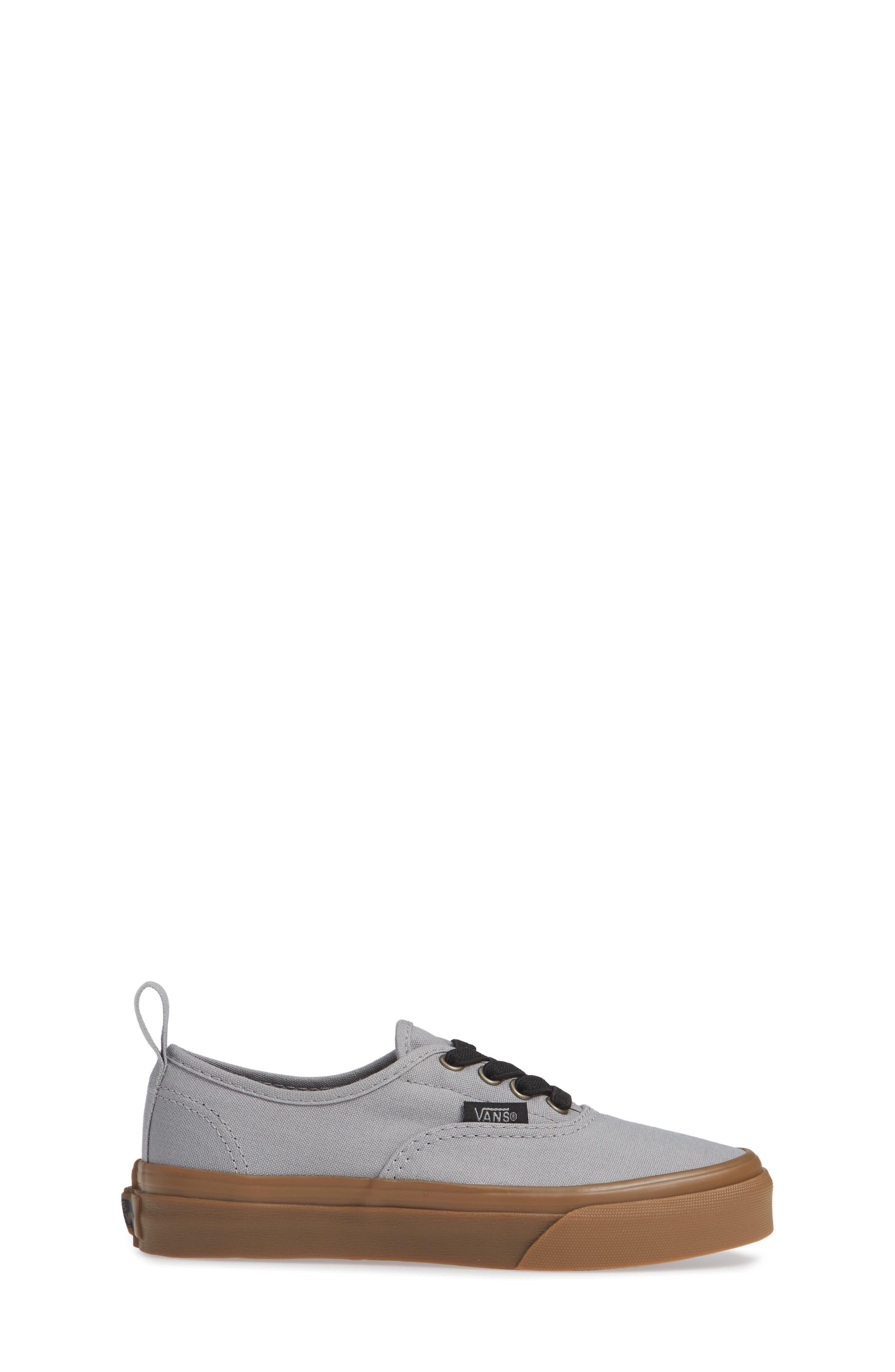 Authentic Sneaker,                             Alternate thumbnail 3, color,                             GUM OUTSOLE ALLOY/ BLACK