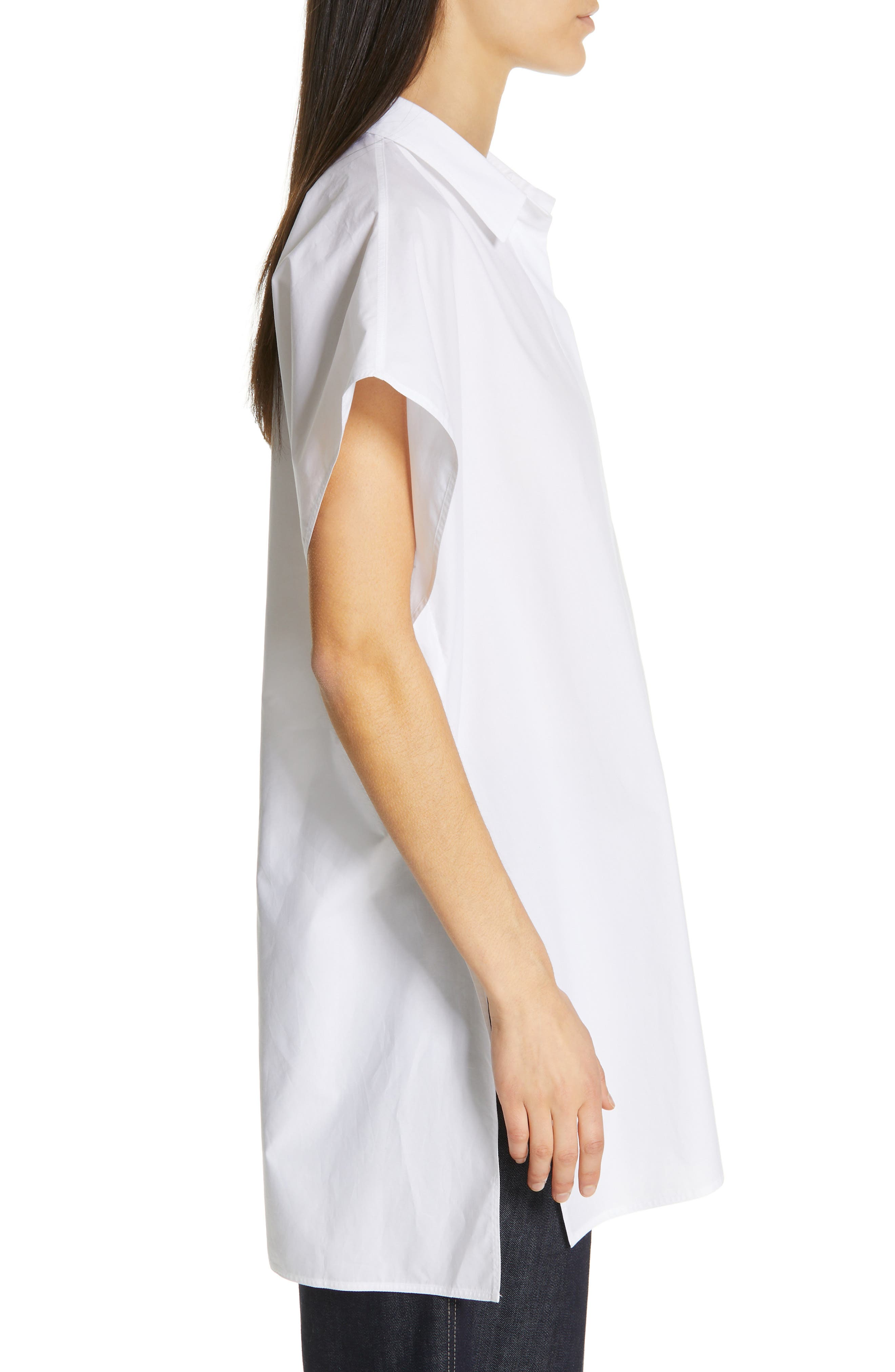 Oversize Dolman Sleeve Blouse,                             Alternate thumbnail 3, color,                             OPTICAL WHITE