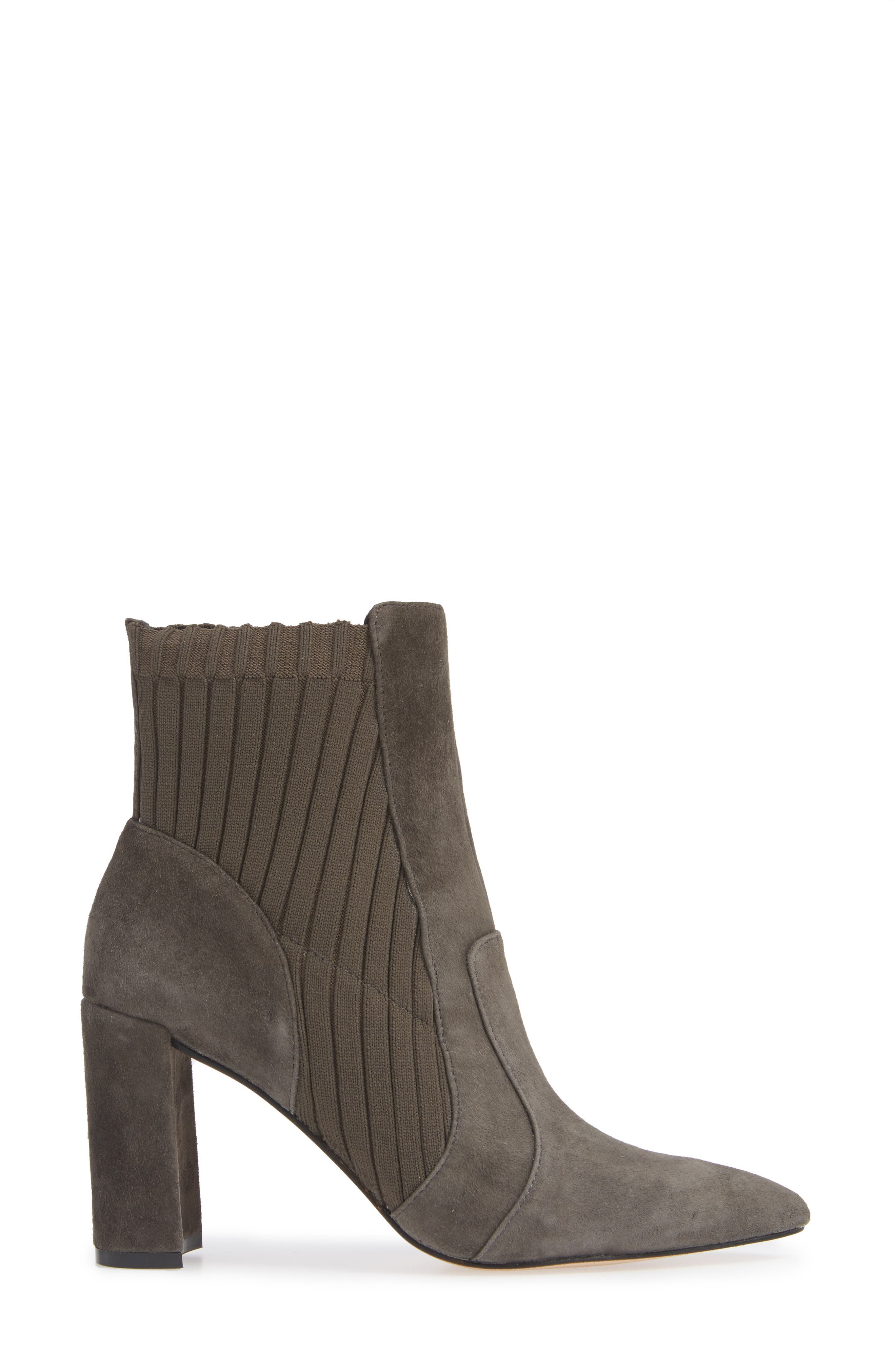 Salmay Sock Bootie,                             Alternate thumbnail 3, color,                             IRON SUEDE