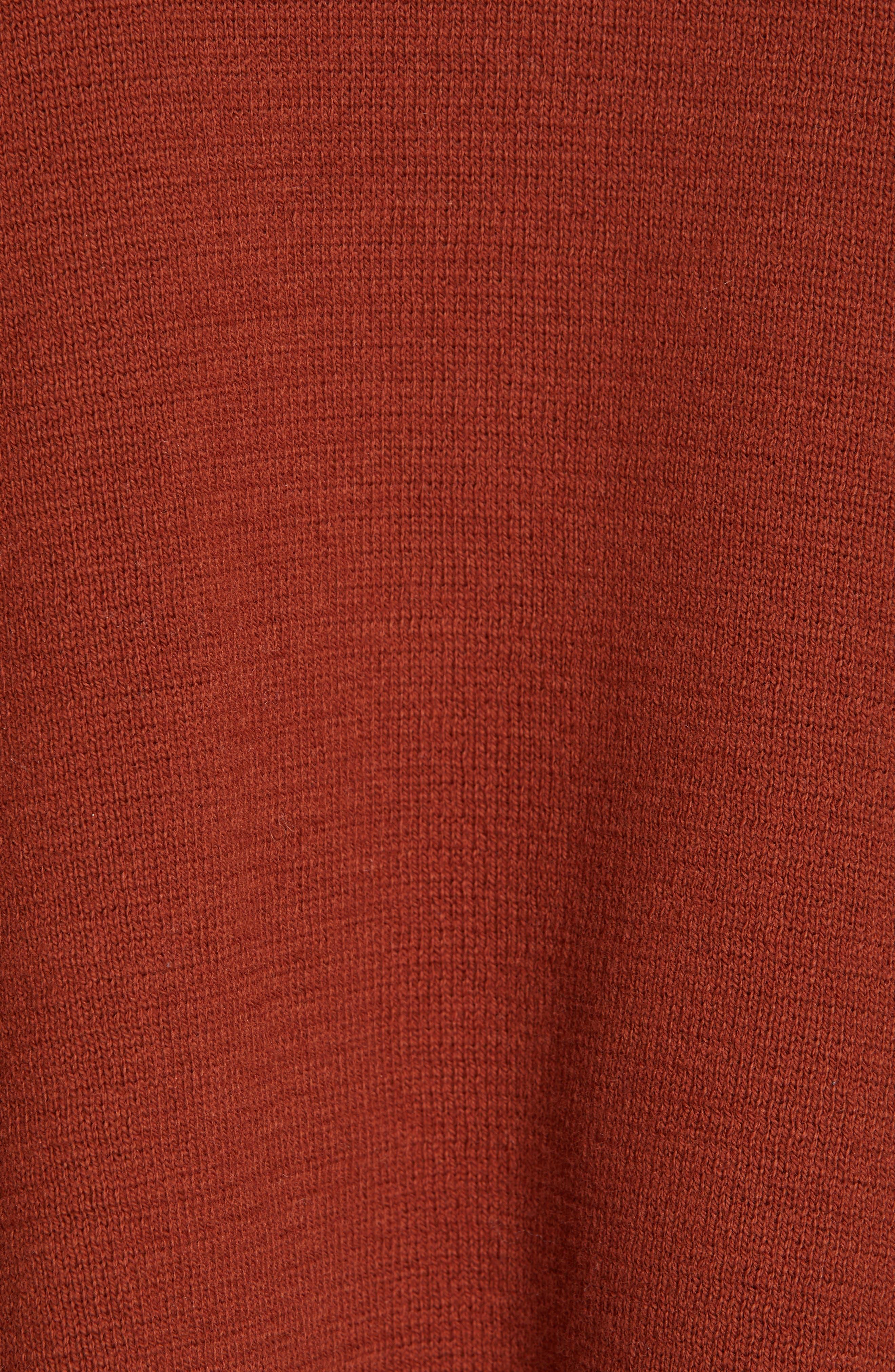 Cropped Sweater,                             Alternate thumbnail 5, color,                             CANYON OAK