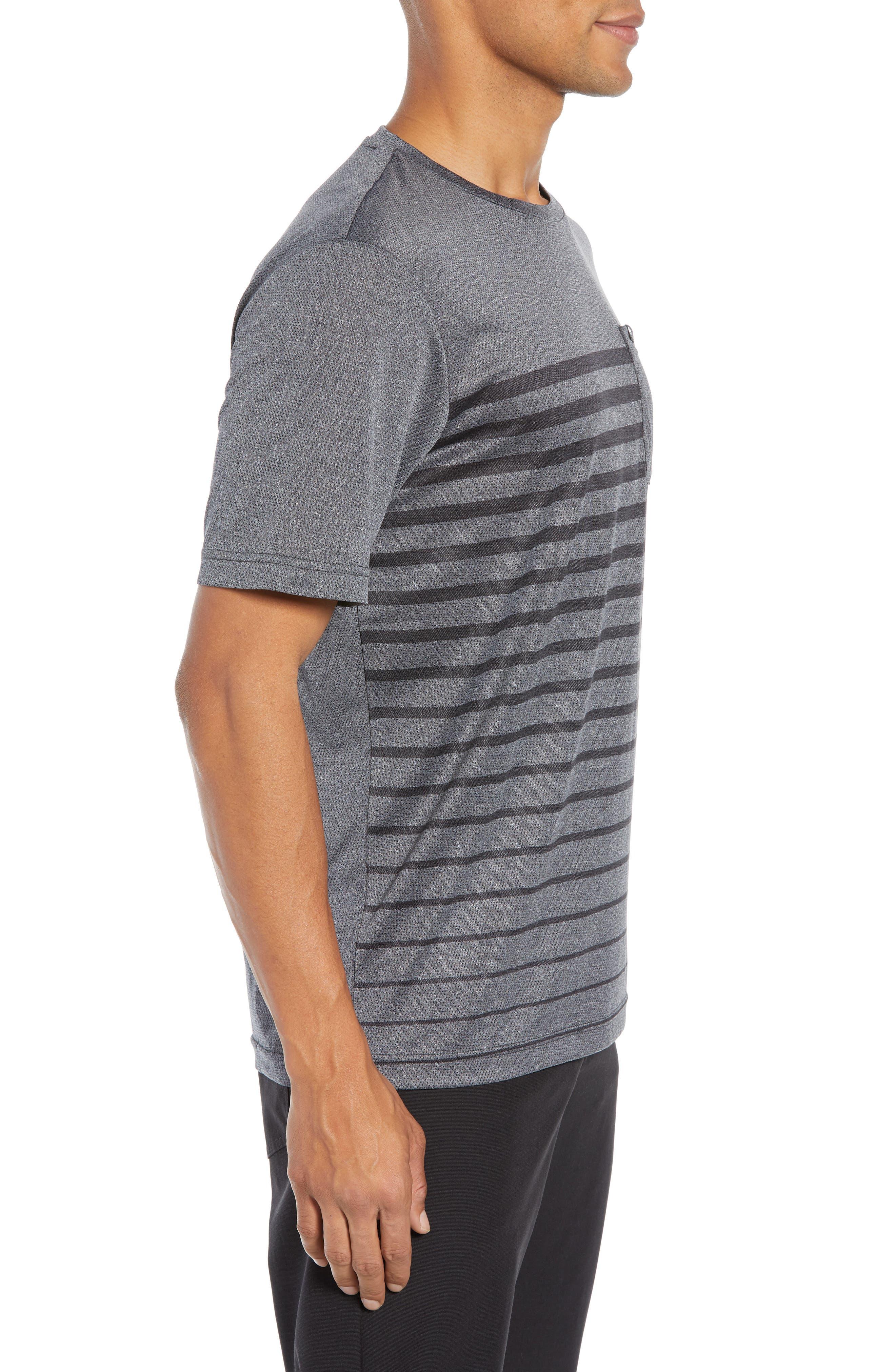 Cutoff Pocket T-Shirt,                             Alternate thumbnail 3, color,                             HEATHER MAGNET