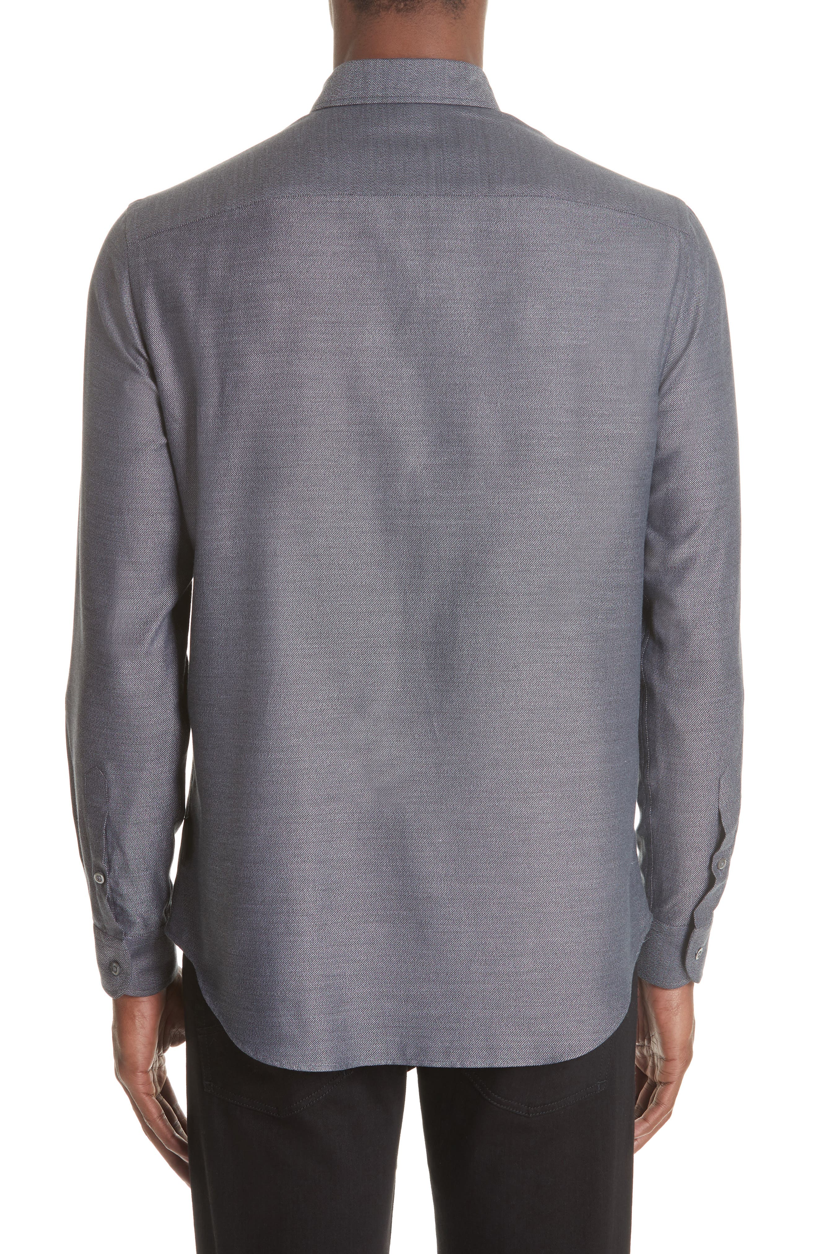 Regular Fit Twill Sport Shirt,                             Alternate thumbnail 2, color,                             GREY MULTI