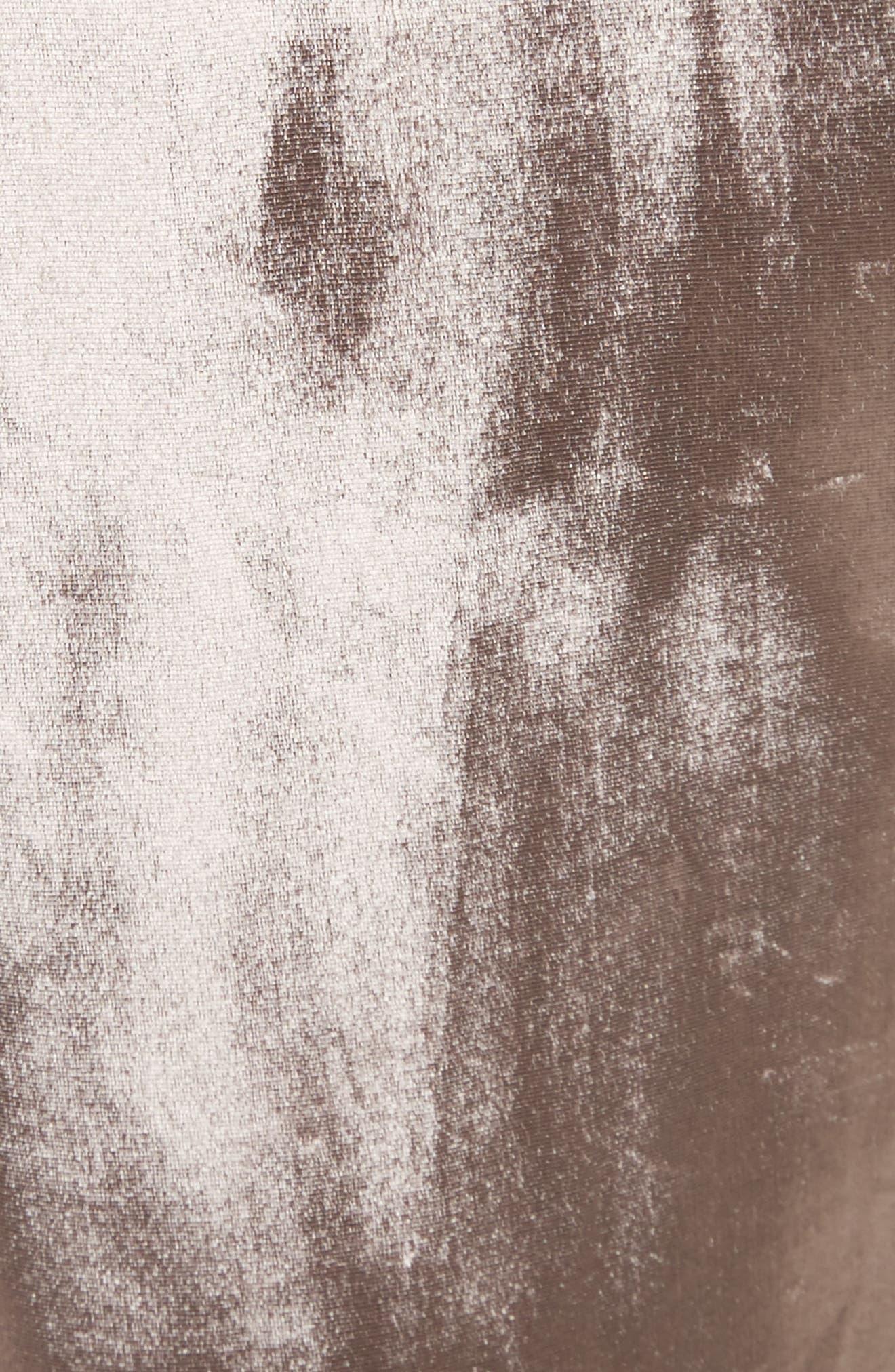 Crushed Velvet Track Pants,                             Alternate thumbnail 5, color,                             697