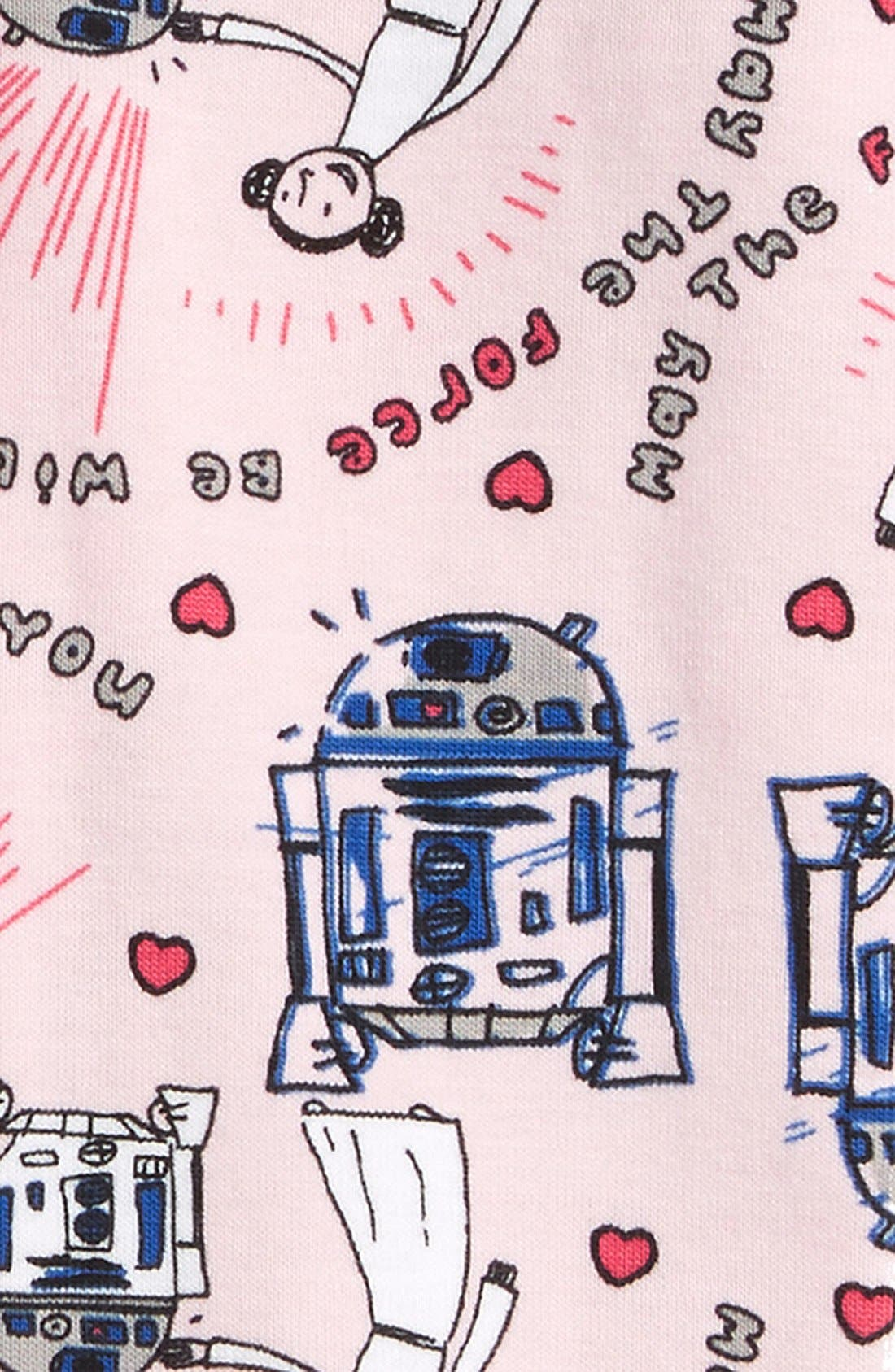 'Star Wars - Valentine's Day' Organic Cotton Pajamas,                             Alternate thumbnail 2, color,                             650