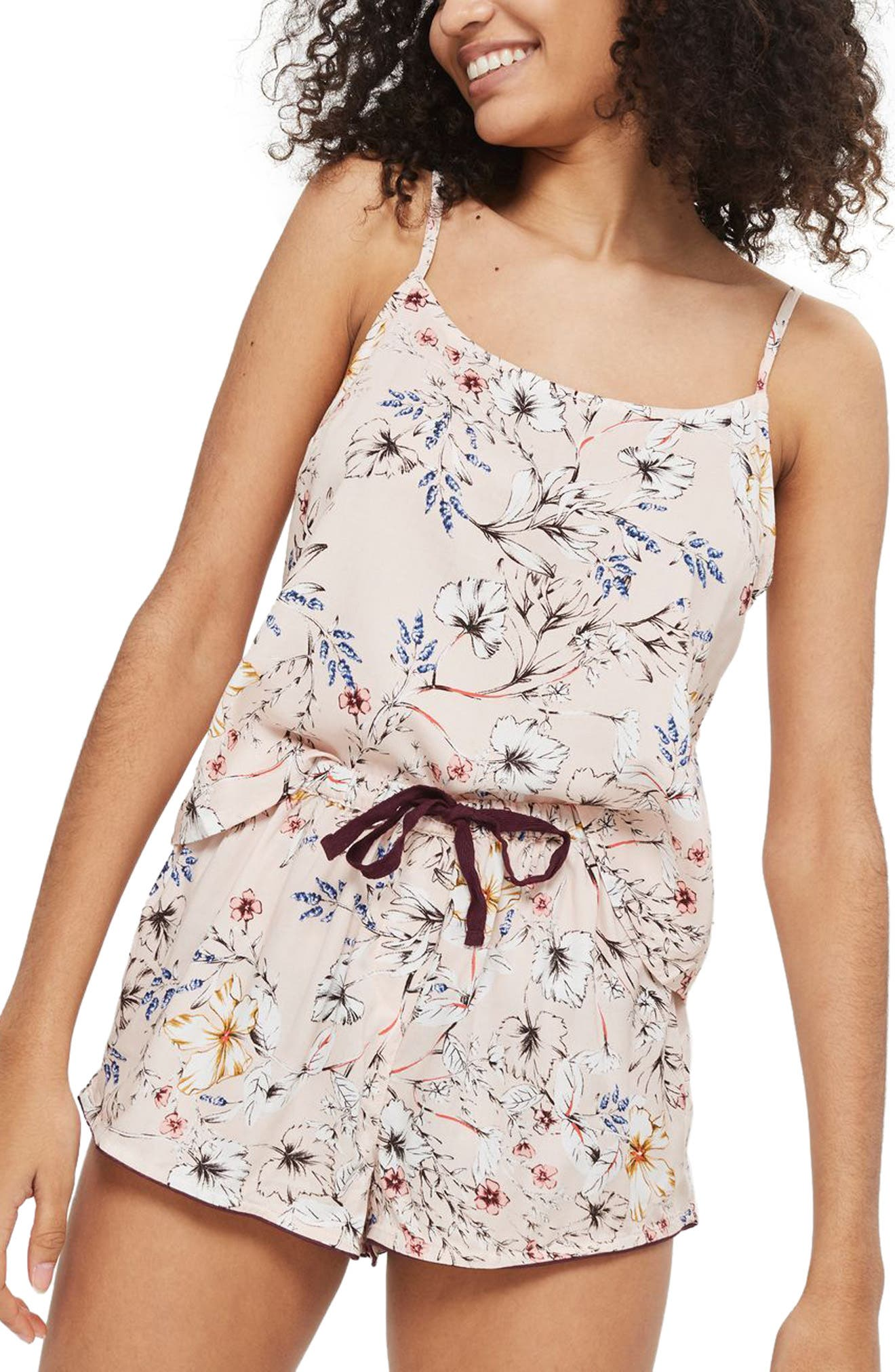 Sketchy Floral Camisole,                             Main thumbnail 1, color,                             650