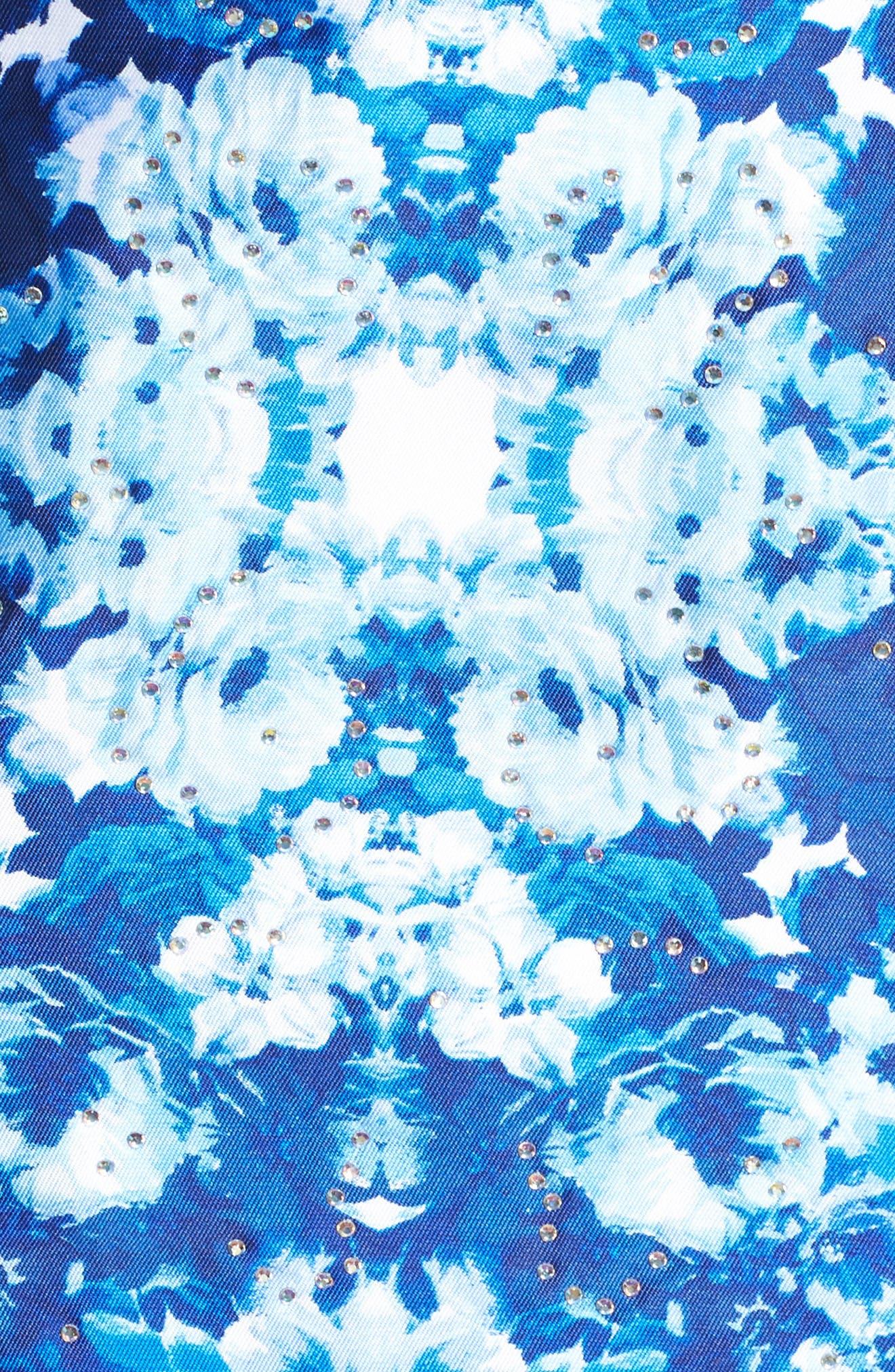 Mirror Pattern Halter Mermaid Gown,                             Alternate thumbnail 5, color,                             400