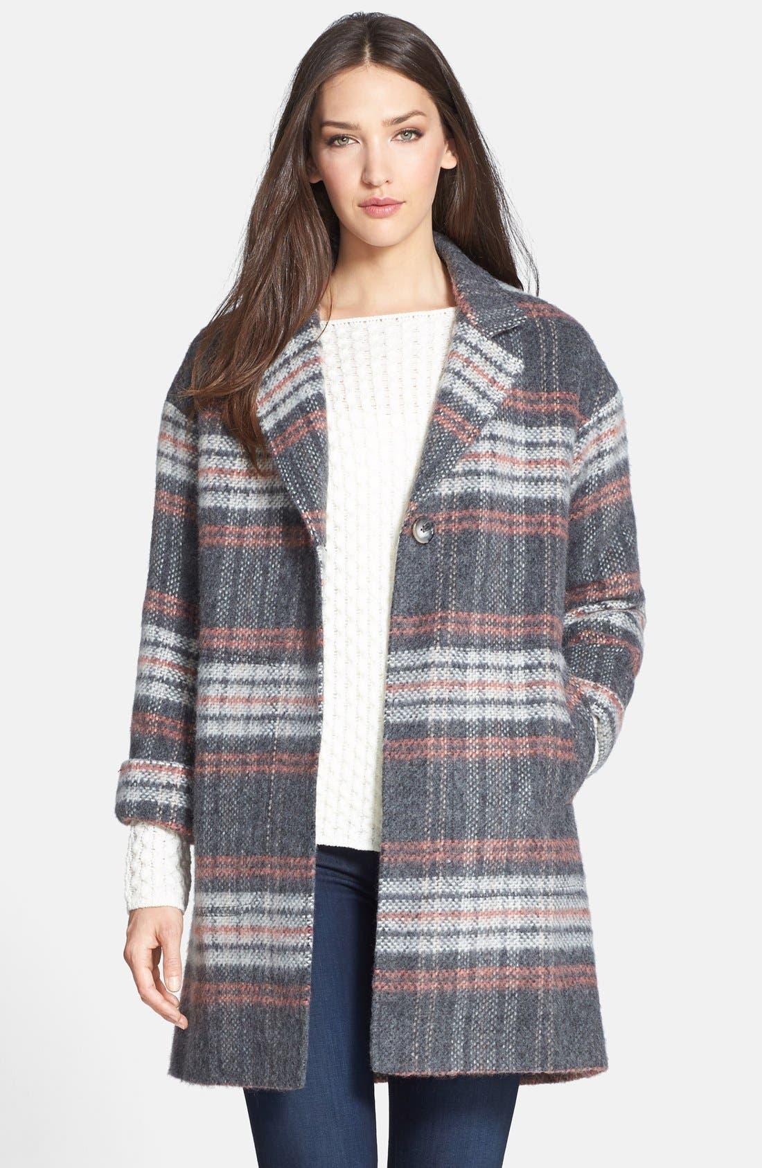 Plaid Coat,                             Main thumbnail 1, color,                             020