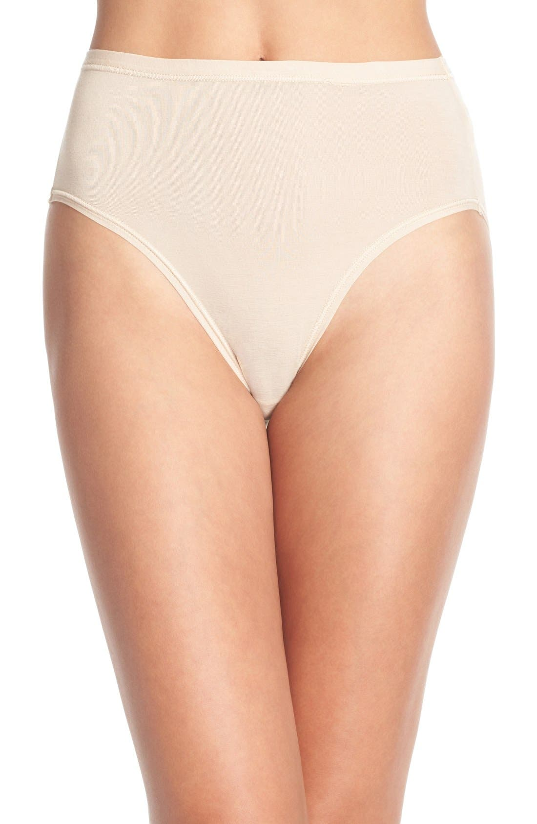 B Fitting High Cut Briefs,                         Main,                         color, NUDE