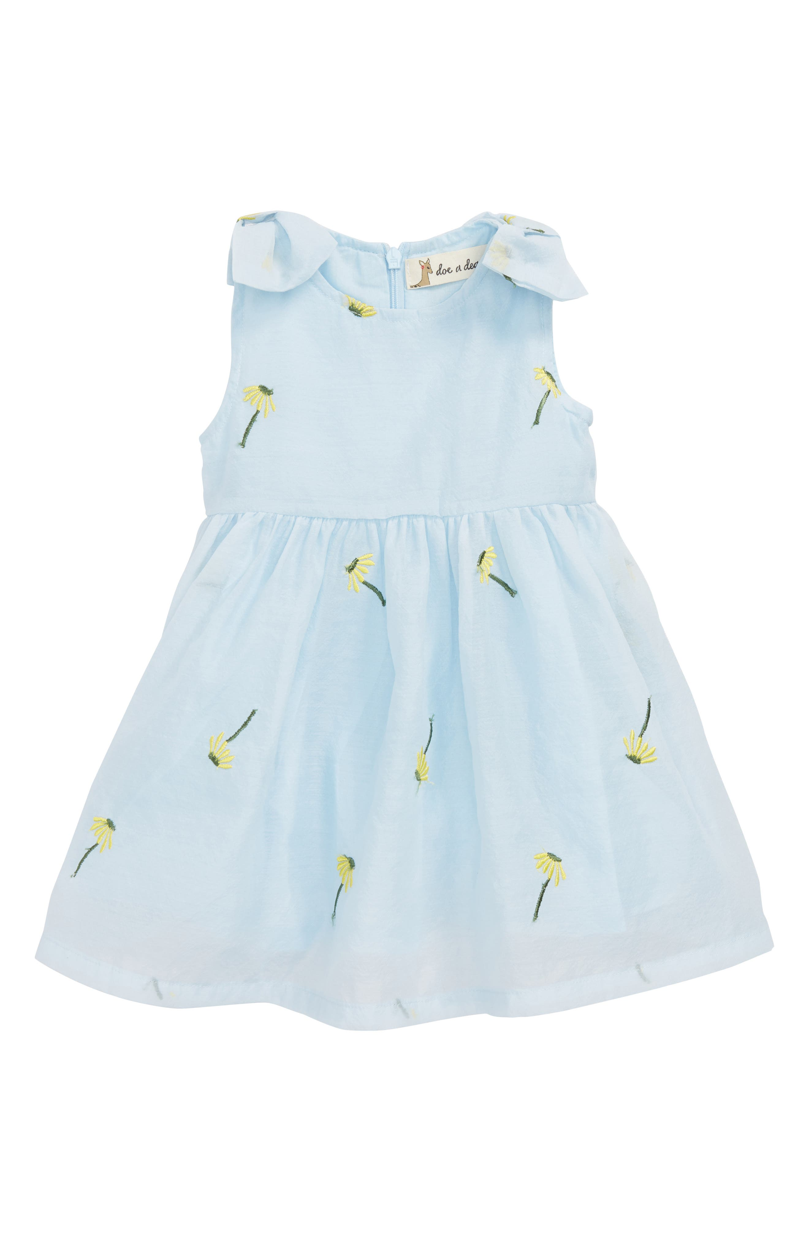 Dandelion Embroidered Dress,                             Main thumbnail 1, color,