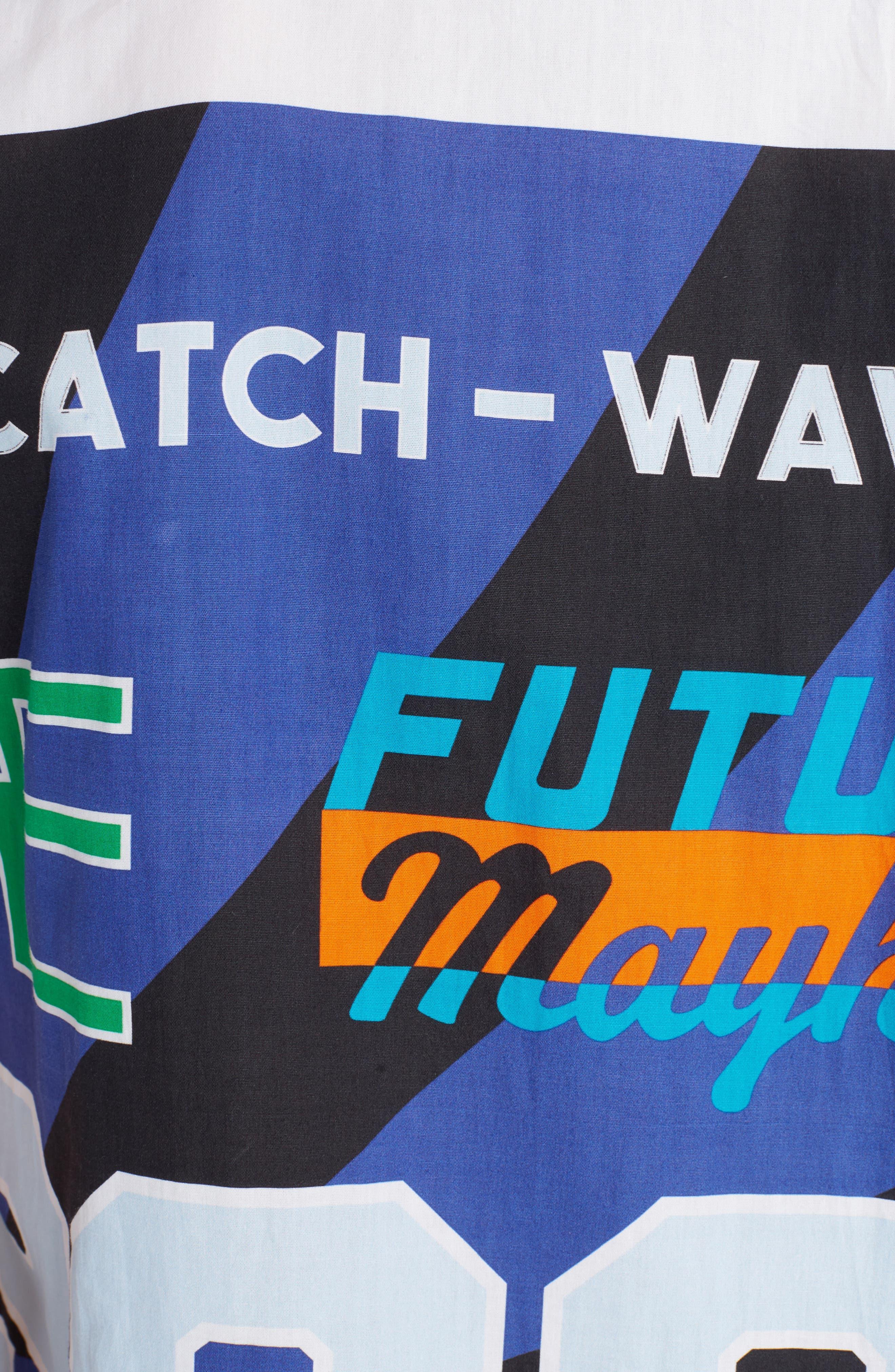 Sport Print Woven Shirt,                             Alternate thumbnail 5, color,