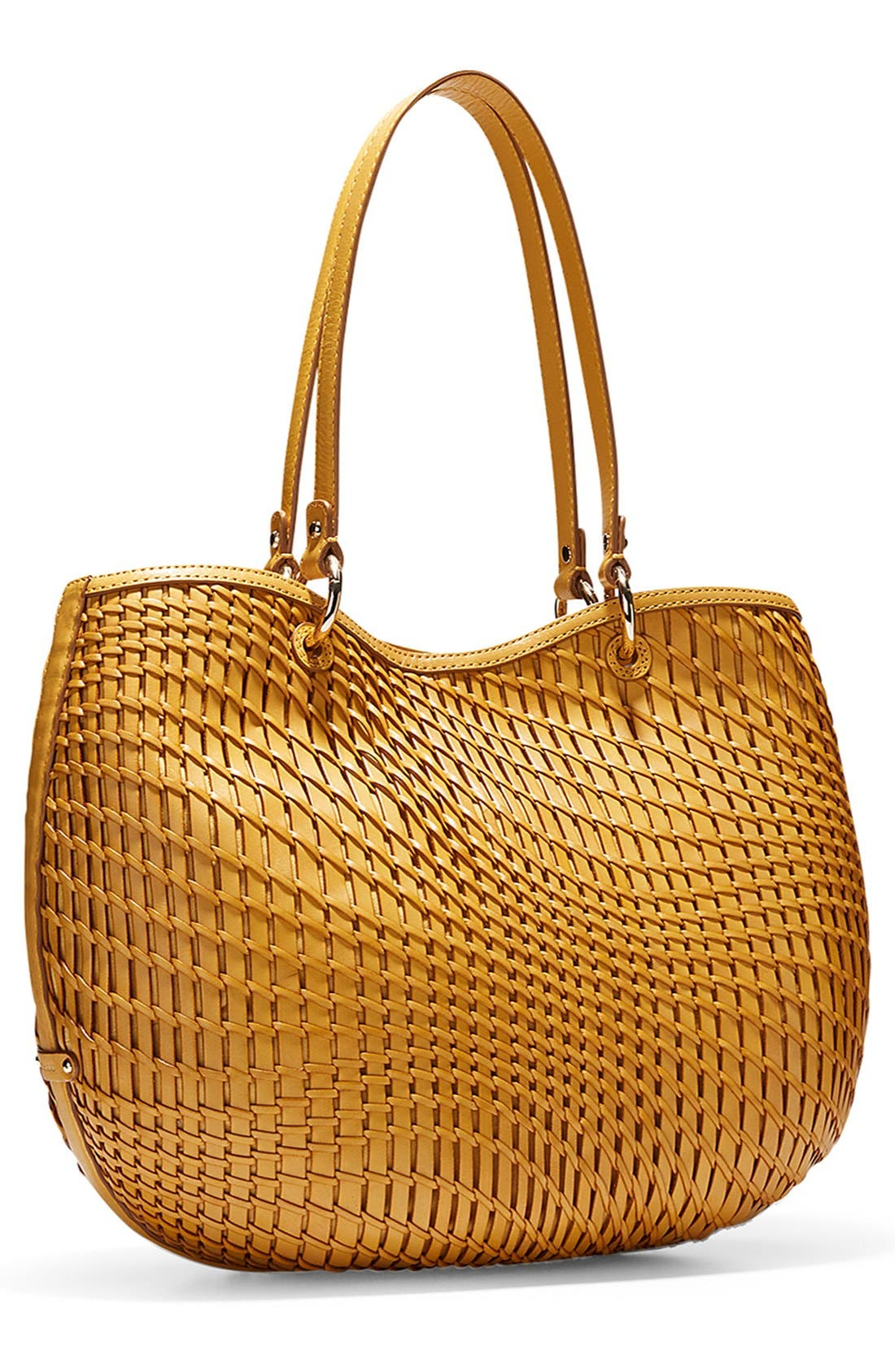 'Genevieve - Small' Open Weave Leather Tote,                             Alternate thumbnail 2, color,                             200