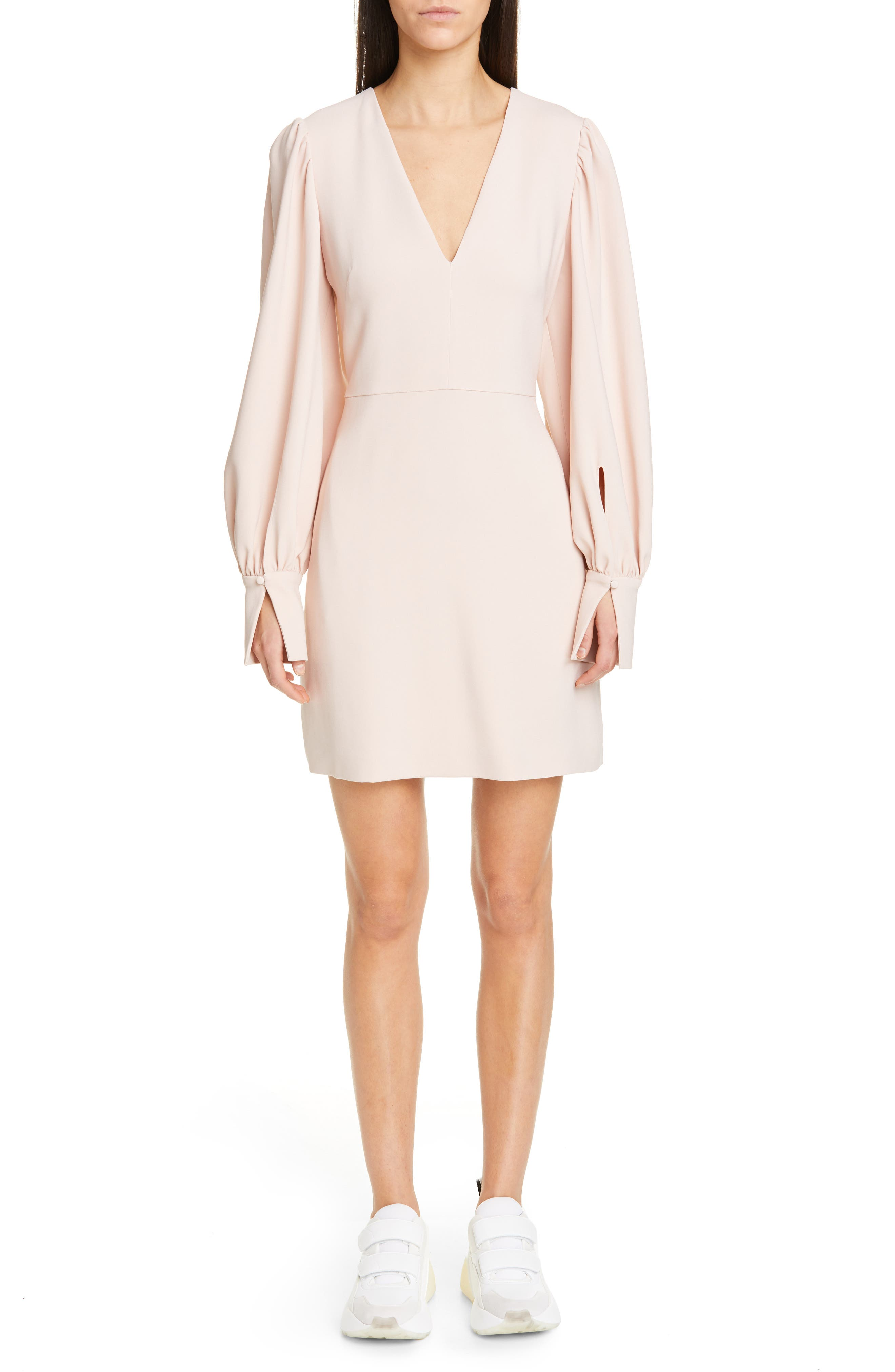 Stella Mccartney Long Sleeve Stretch Cady Dress, 4 IT - Pink