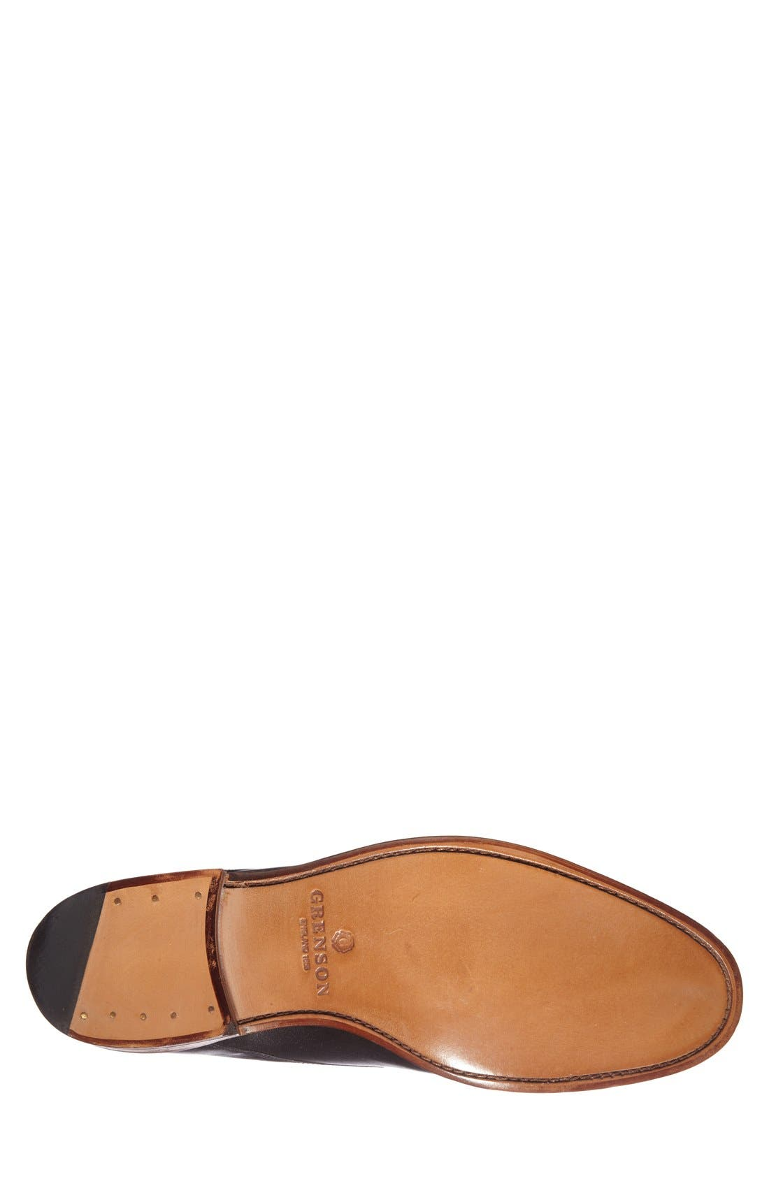 GRENSON,                             'Toby' Leather Plain Toe Derby,                             Alternate thumbnail 3, color,                             001