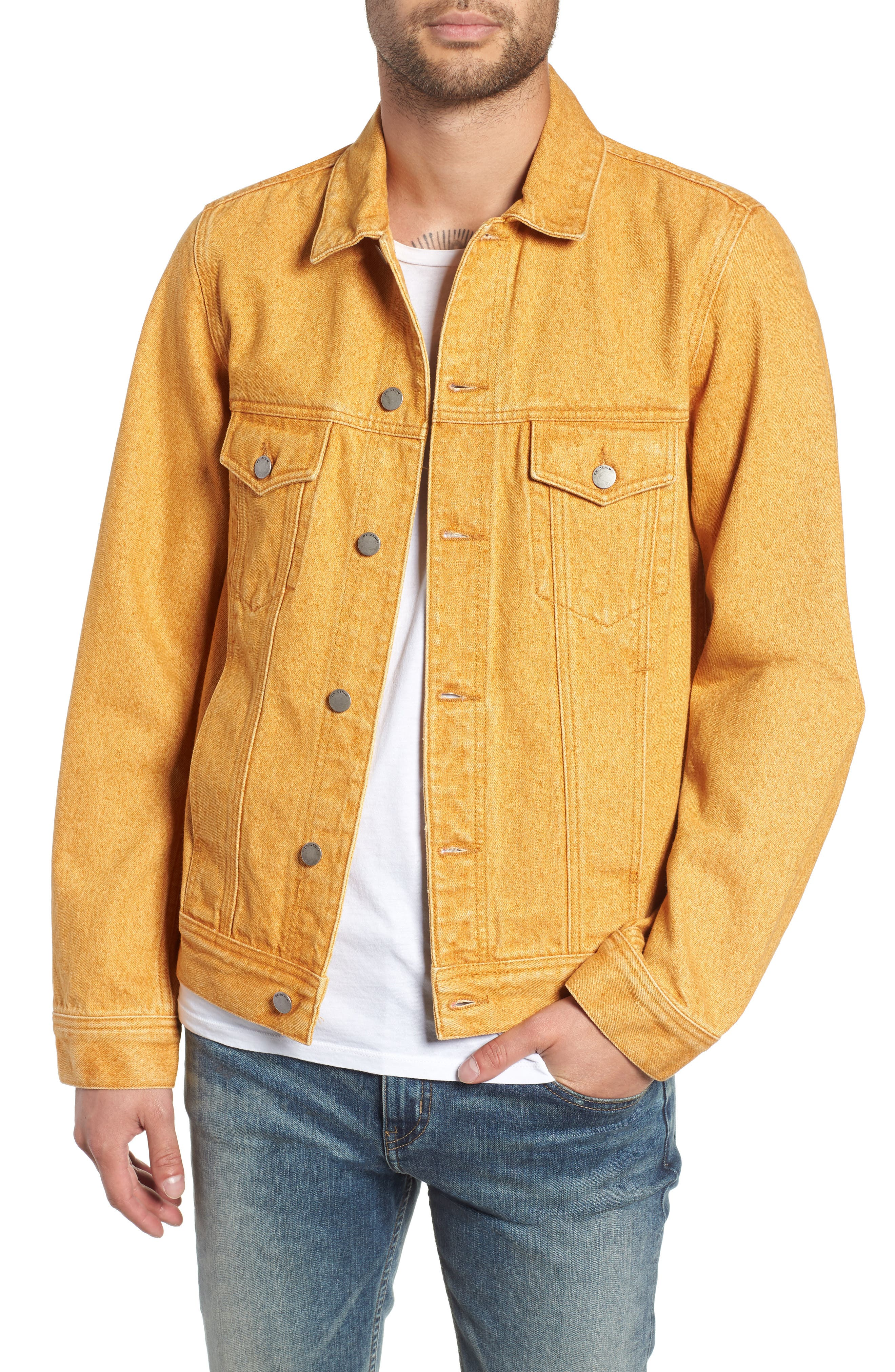 Dwight Denim Jacket,                             Main thumbnail 1, color,                             DUSTY GOLD