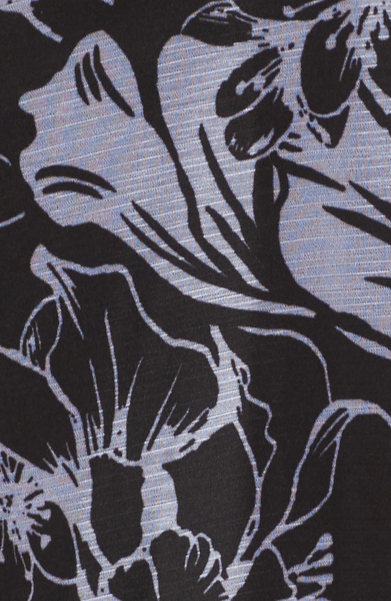 Halter Neck Chiffon Gown,                             Alternate thumbnail 5, color,                             001