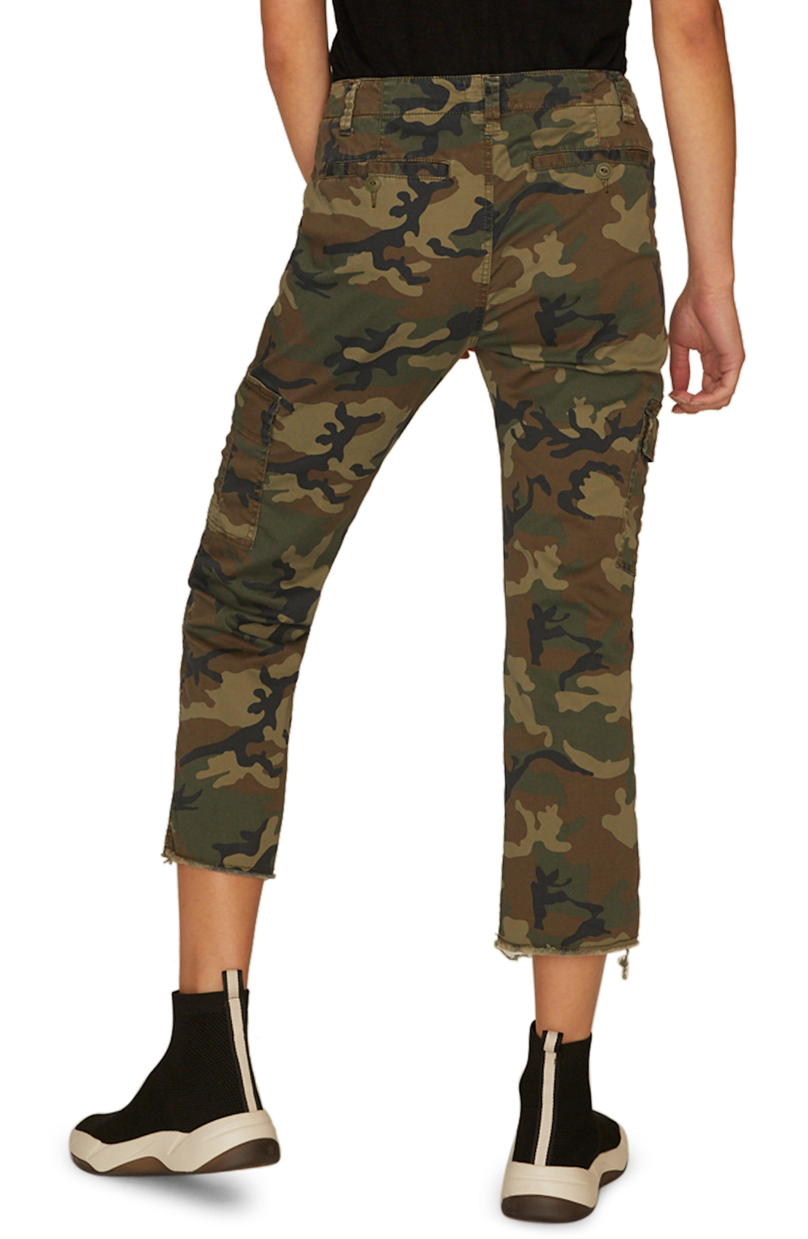 Combat Crop Pants,                             Alternate thumbnail 2, color,                             LOVE CAMO