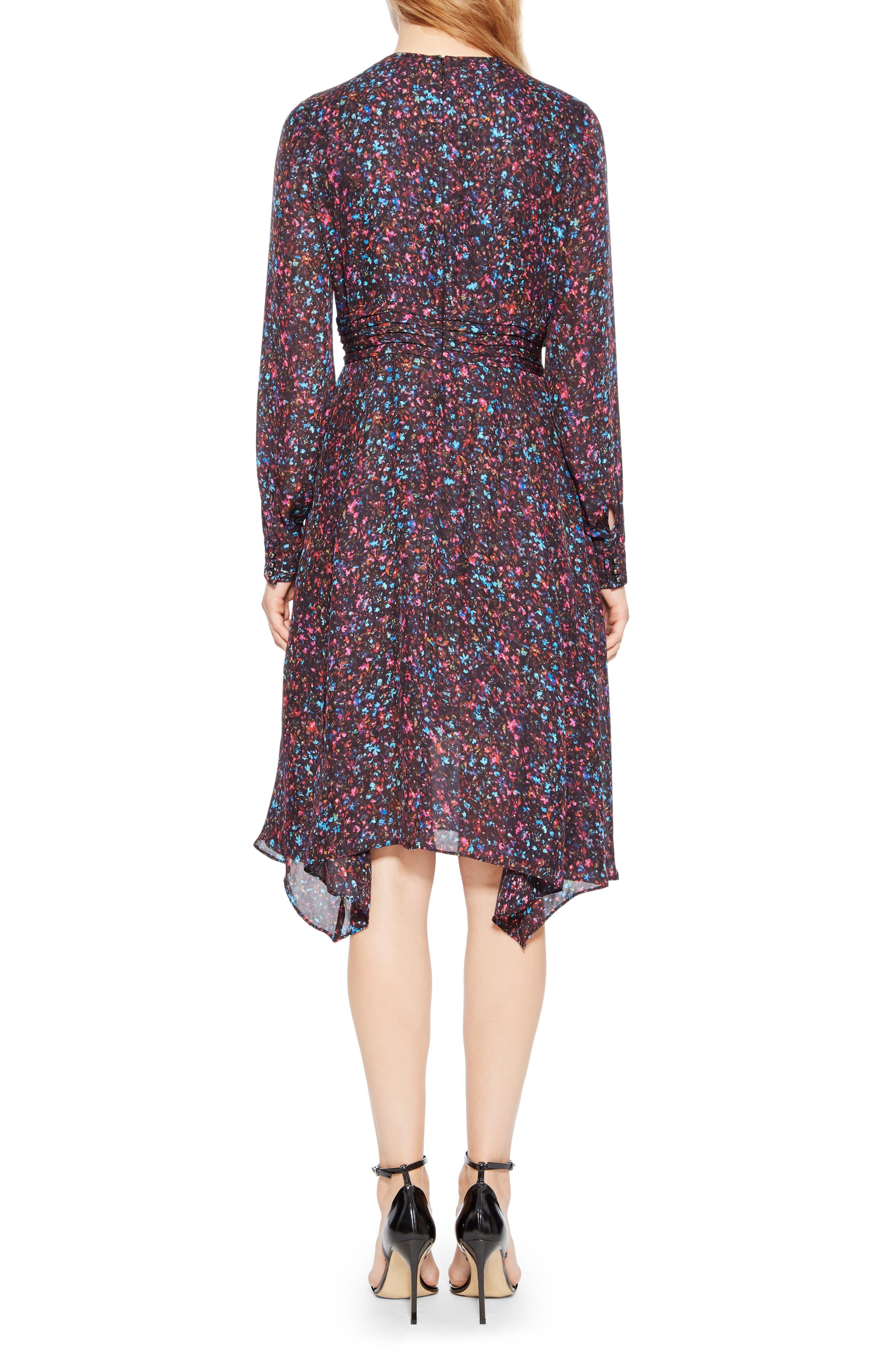 Evanna Floral Print Midi Dress,                             Alternate thumbnail 2, color,                             MINI DITSY