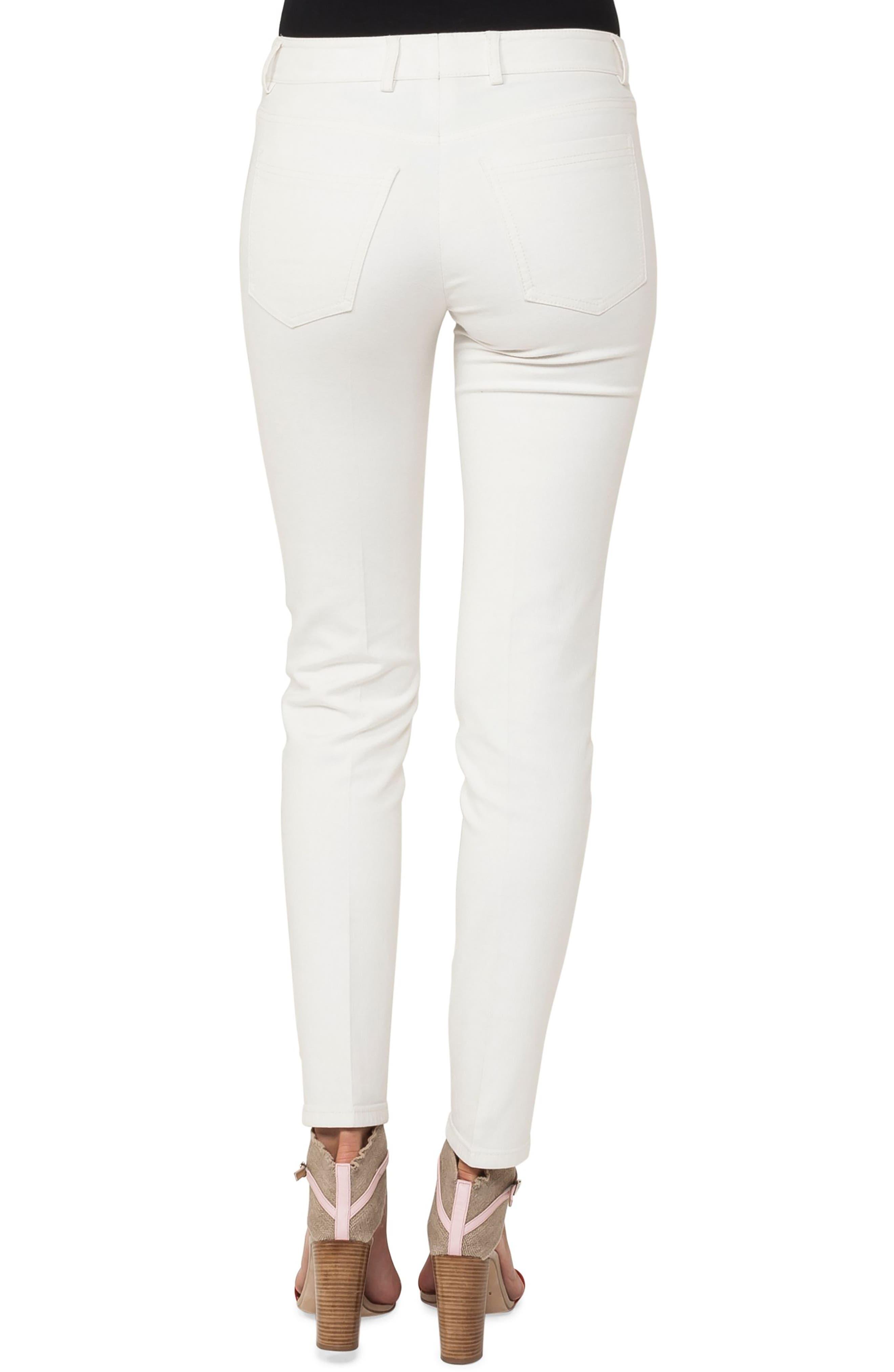 Stretch Cotton & Silk Blend Pants,                             Alternate thumbnail 3, color,