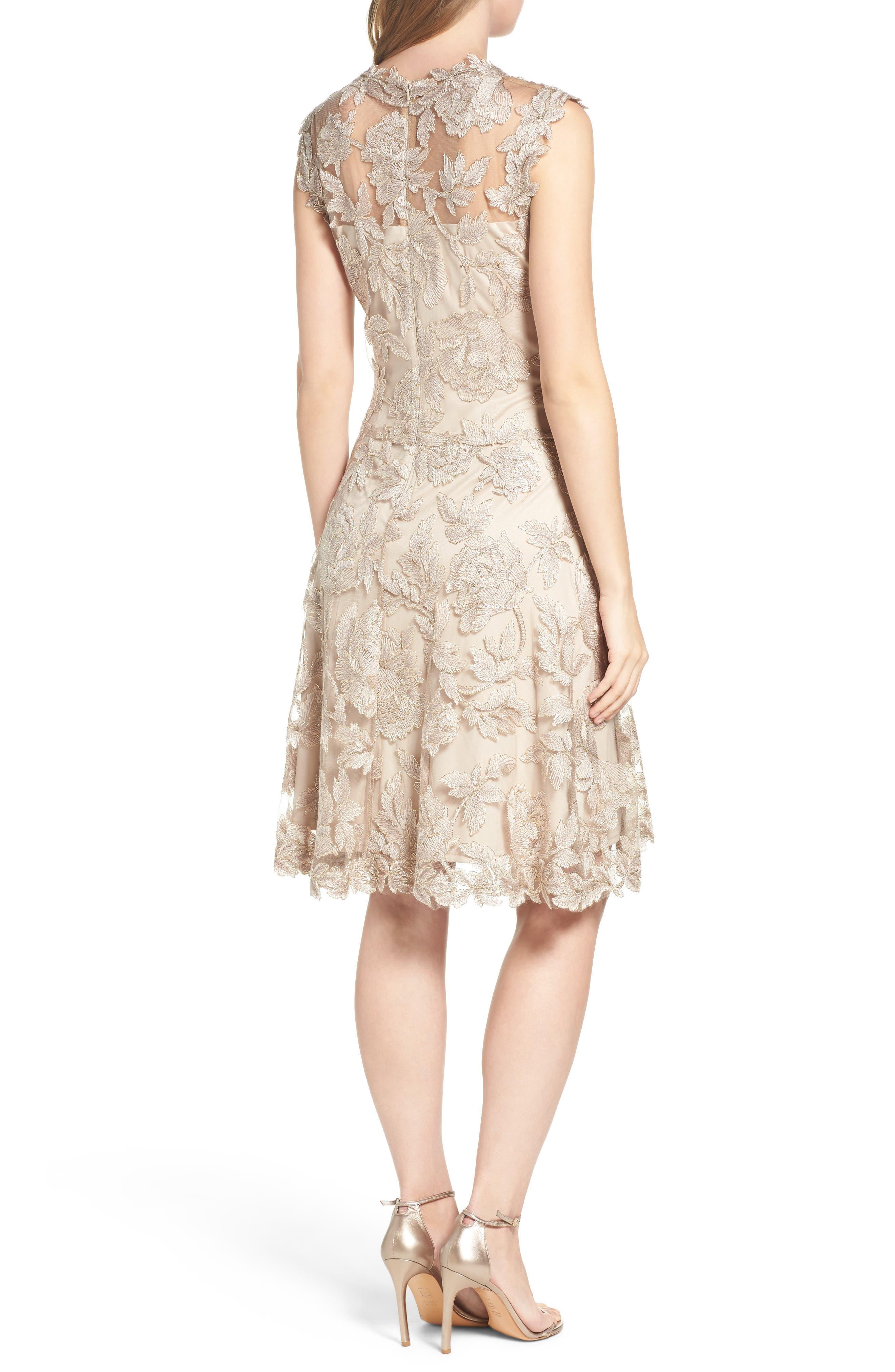 Noelle Floral Fit & Flare Dress,                             Alternate thumbnail 8, color,