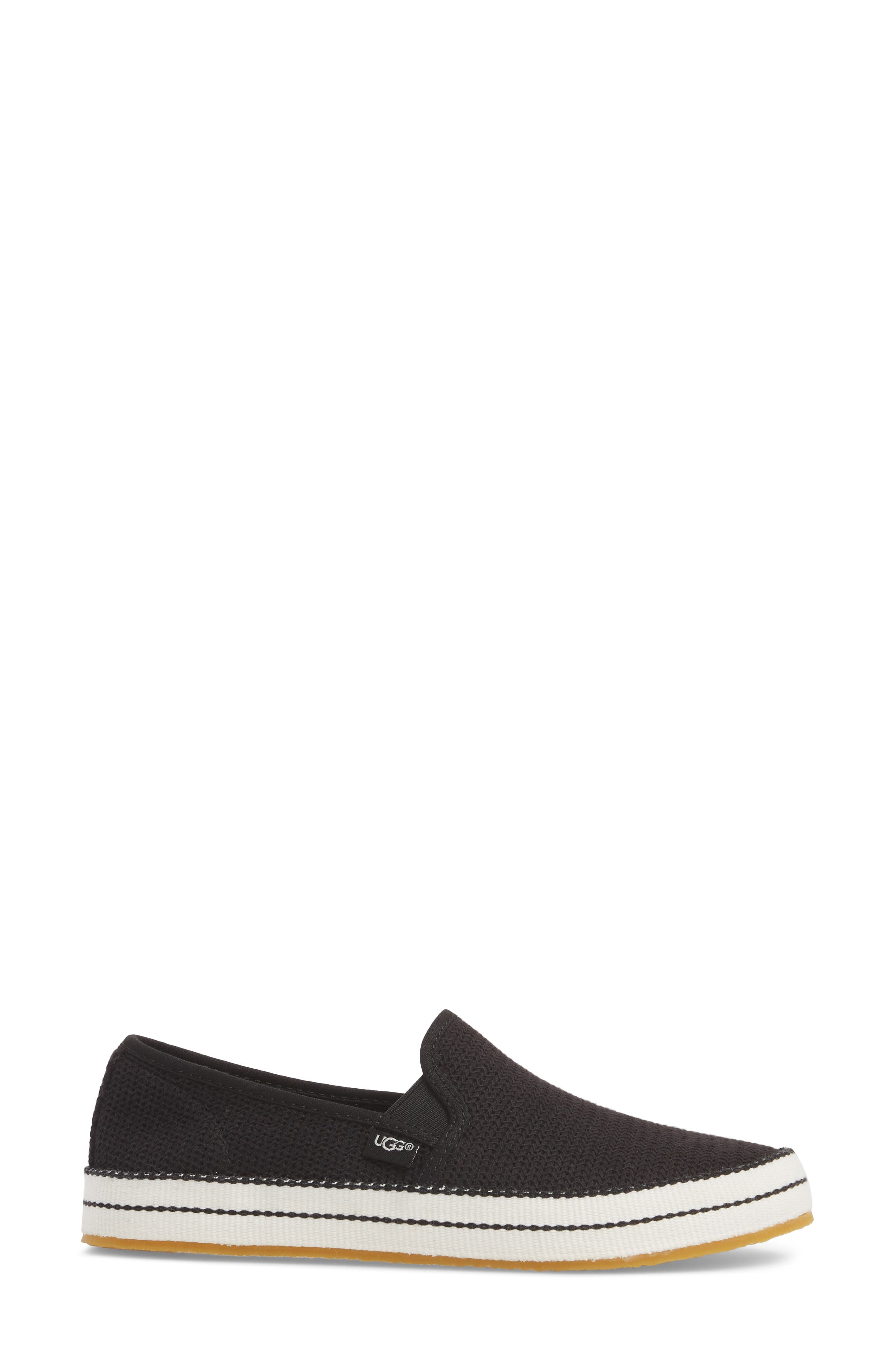 Bren Slip-On Sneaker,                             Alternate thumbnail 3, color,                             BLACK