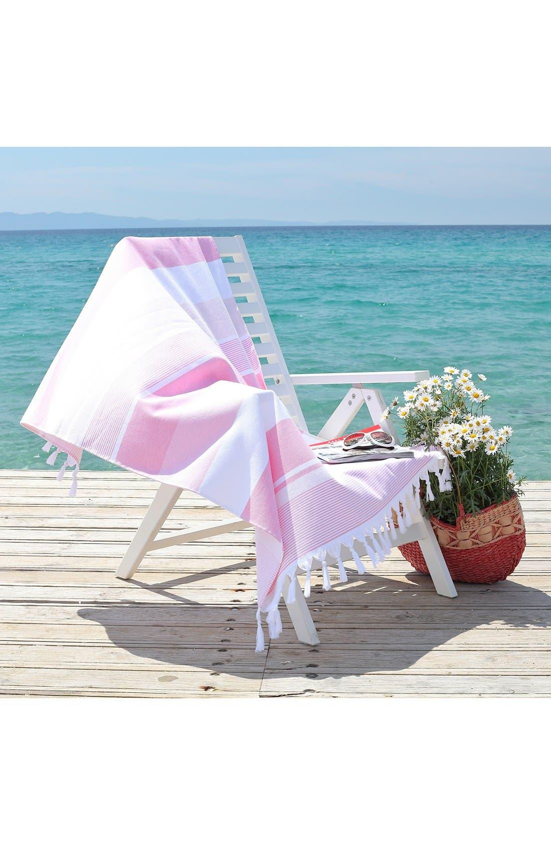 'Summer Loving' Turkish Pestemal Towel,                             Alternate thumbnail 4, color,                             650