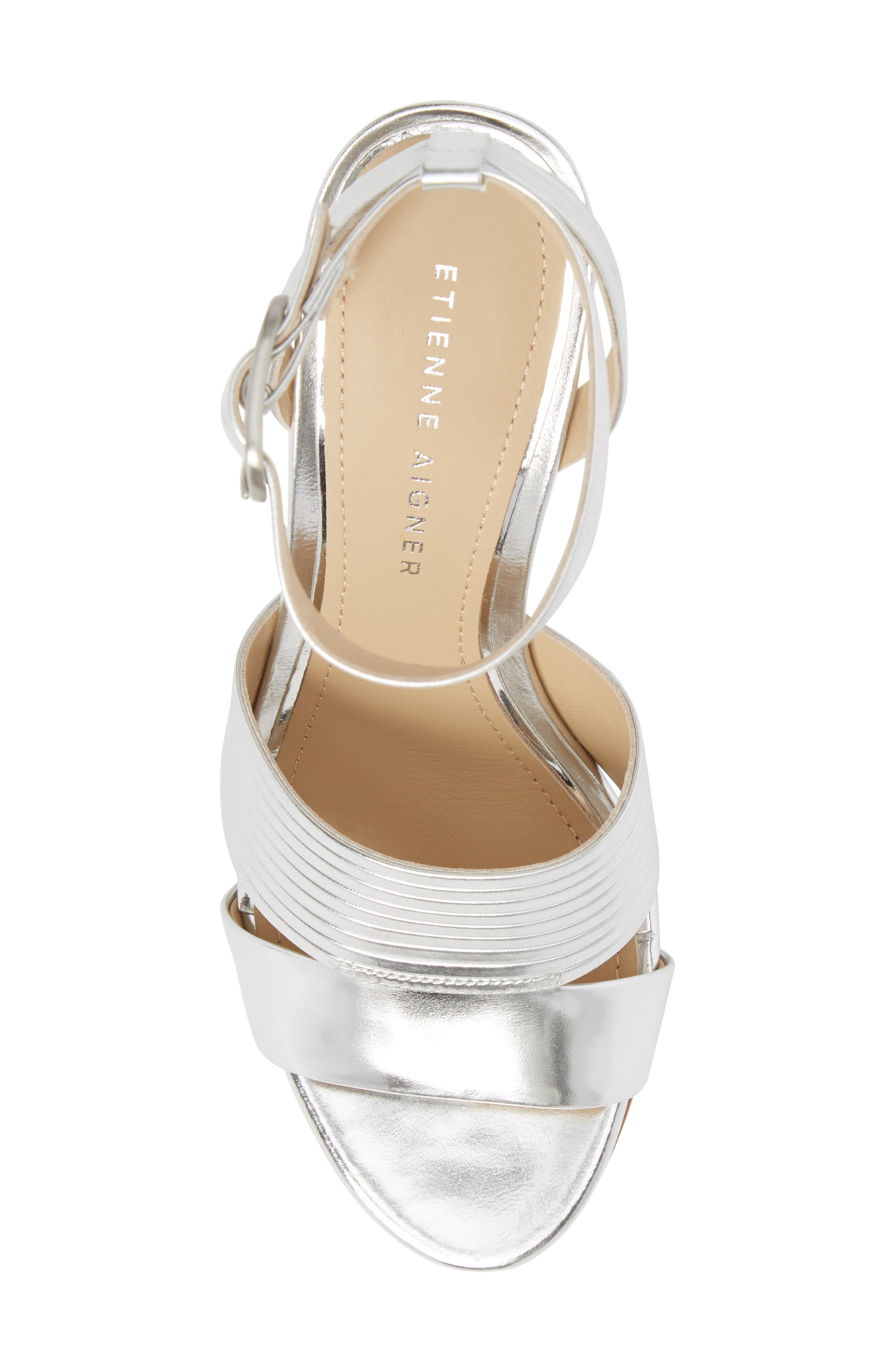 ETIENNE AIGNER,                             Layla Ankle Strap Sandal,                             Alternate thumbnail 5, color,                             040
