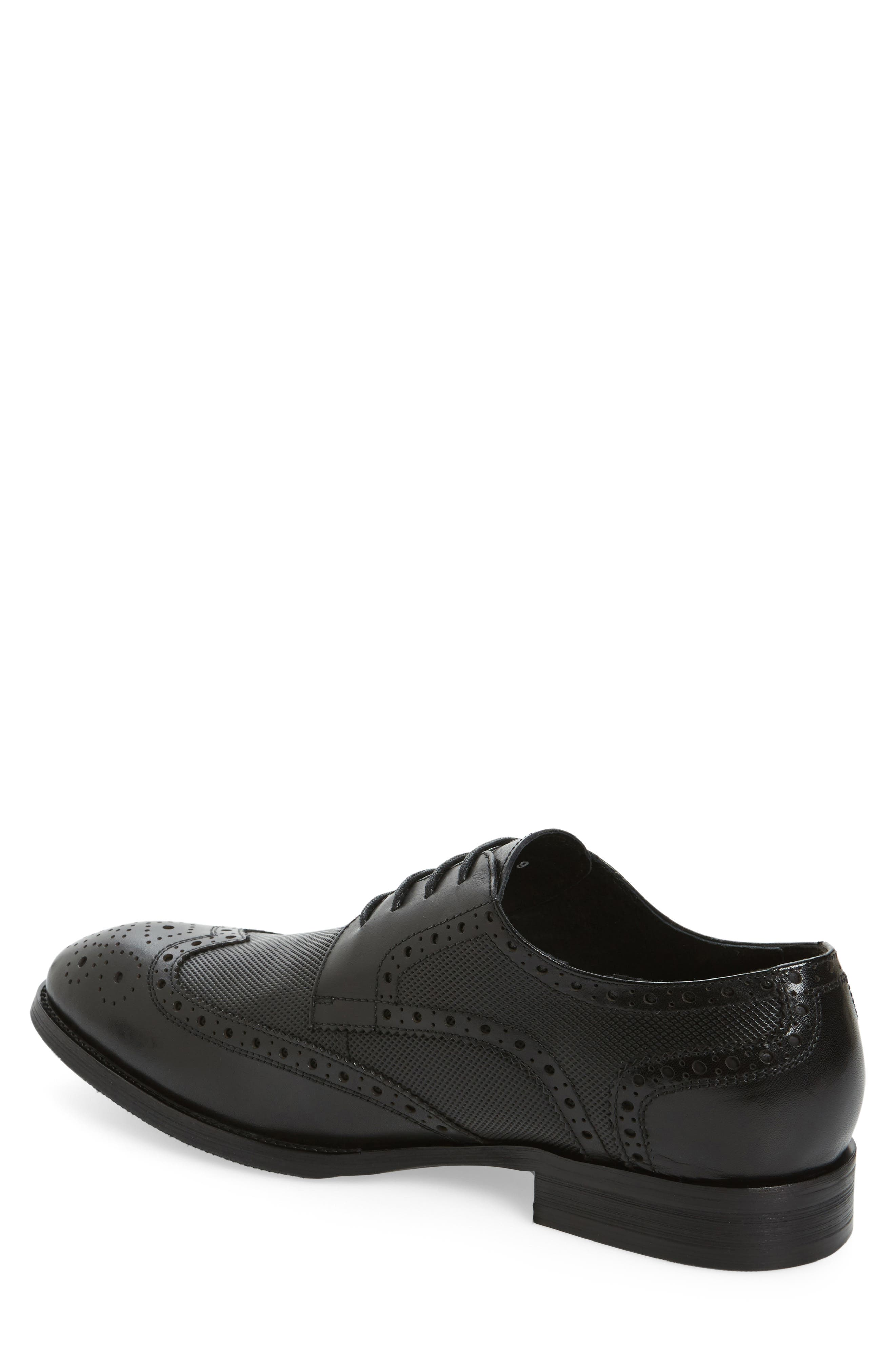 Rossini Wingtip,                             Alternate thumbnail 2, color,                             BLACK LEATHER
