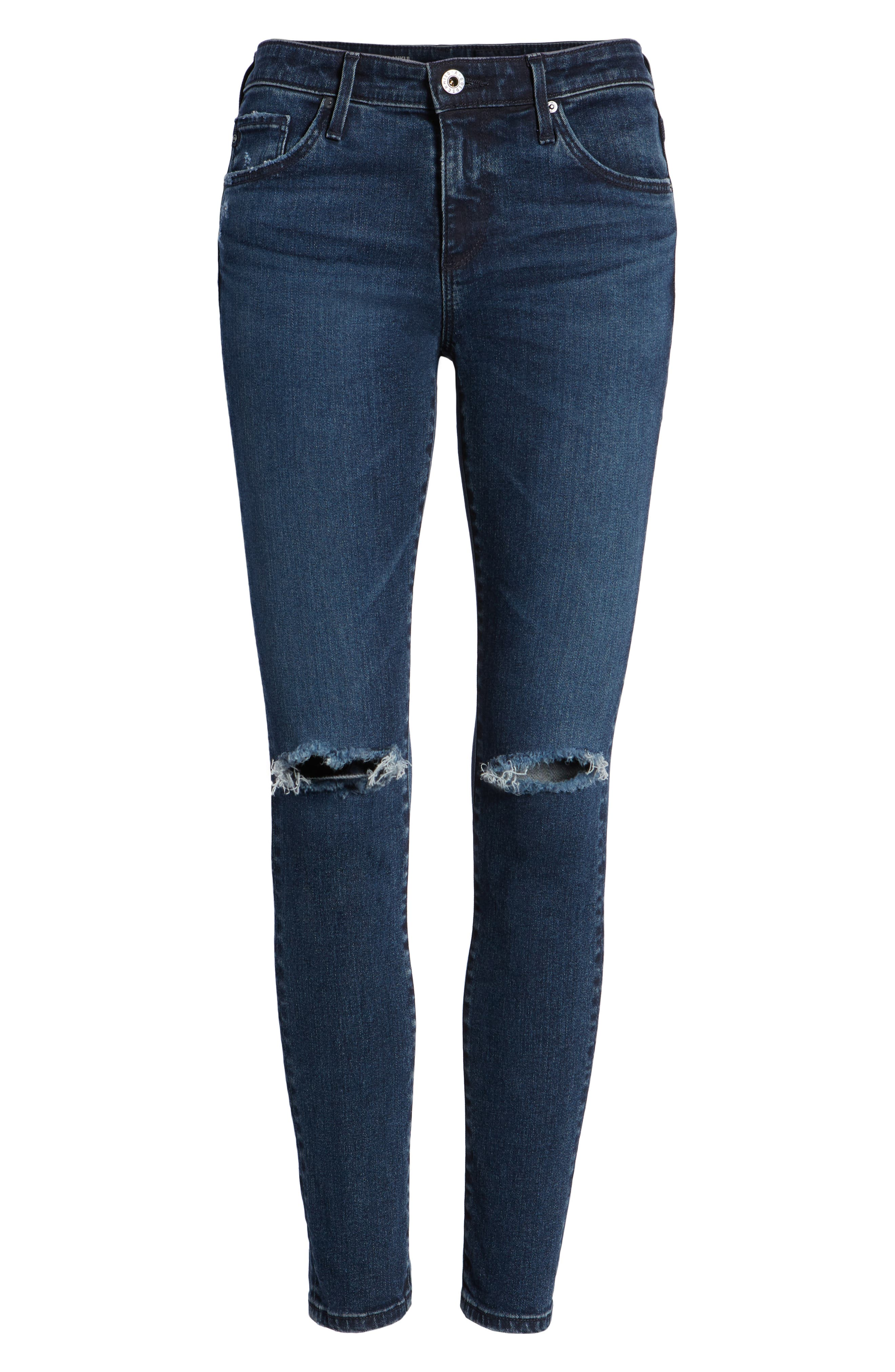 The Legging Ankle Super Skinny Jeans,                             Alternate thumbnail 7, color,                             ETHEREAL