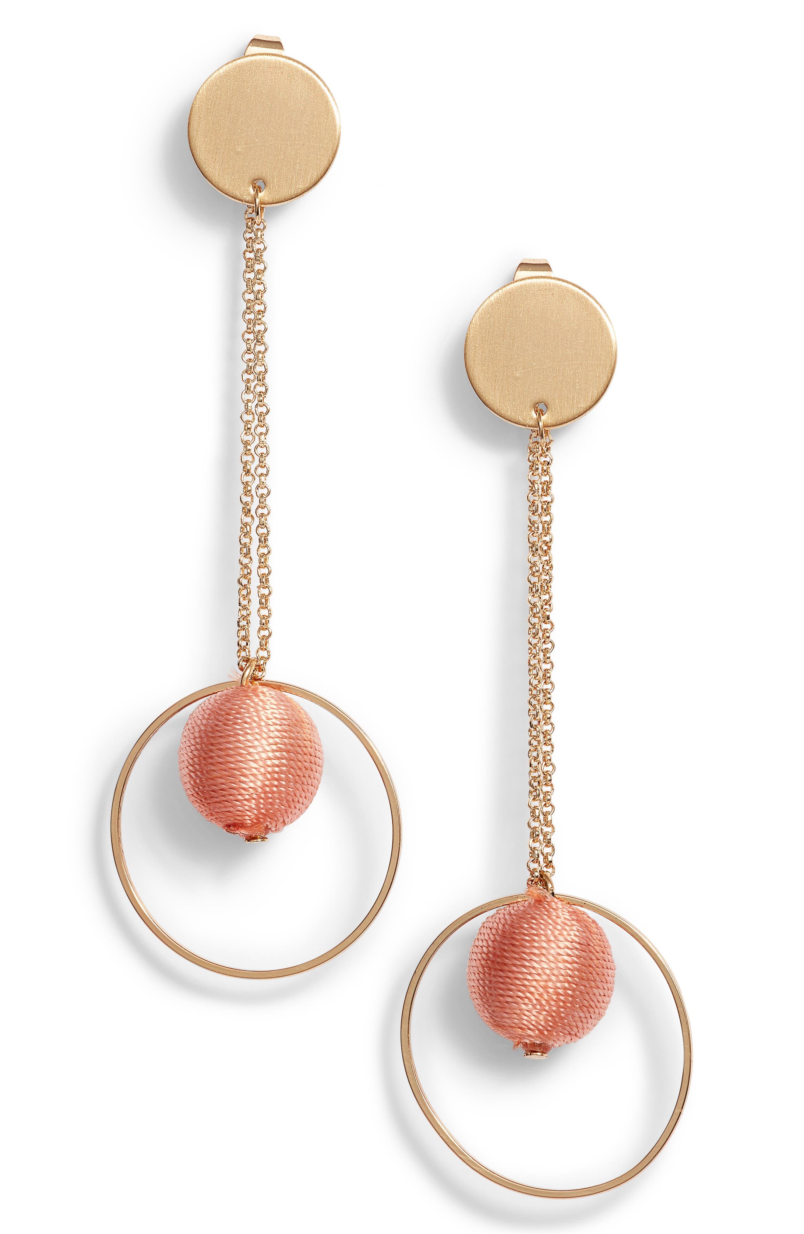 Disc and Hoop Drop Earrings,                             Main thumbnail 2, color,